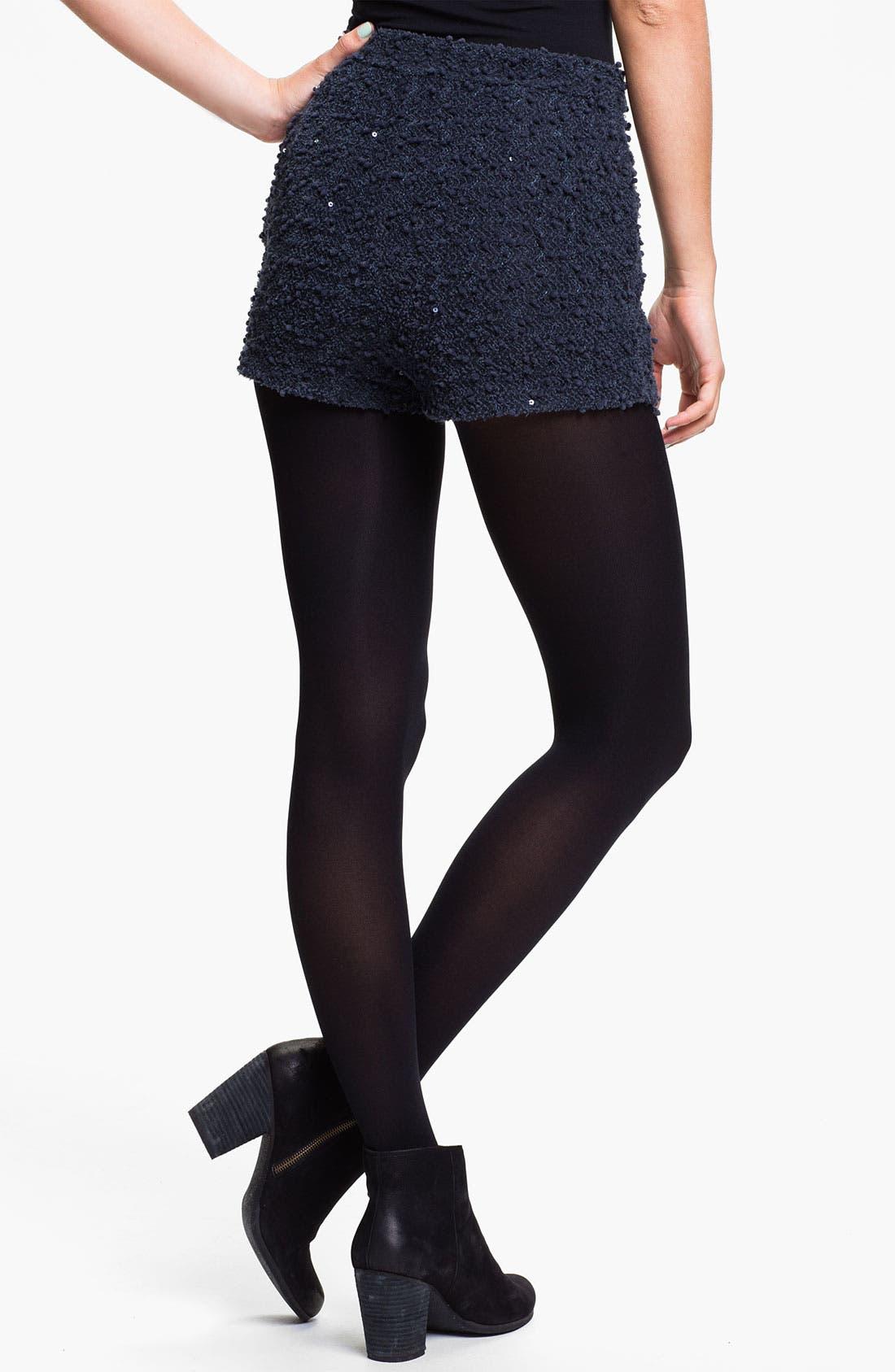Alternate Image 2  - Lush Sequin Bouclé Shorts (Juniors)