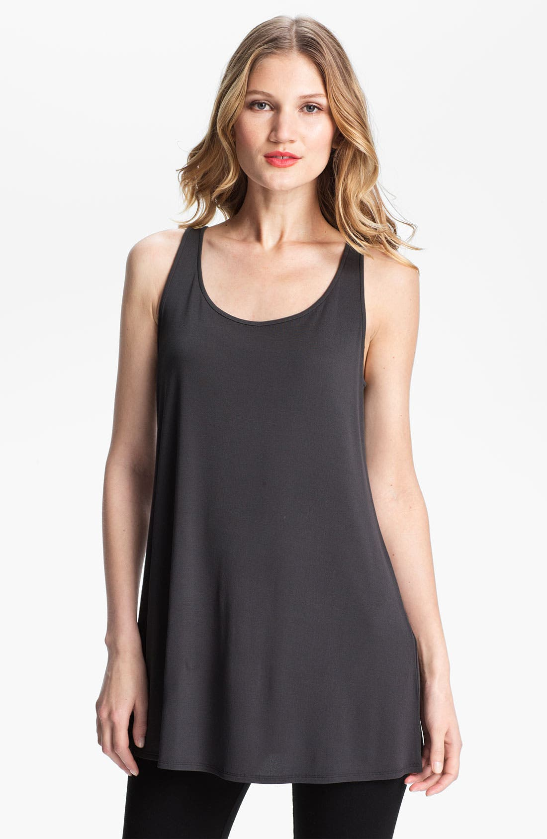 Alternate Image 1 Selected - Eileen Fisher Long Silk Tank
