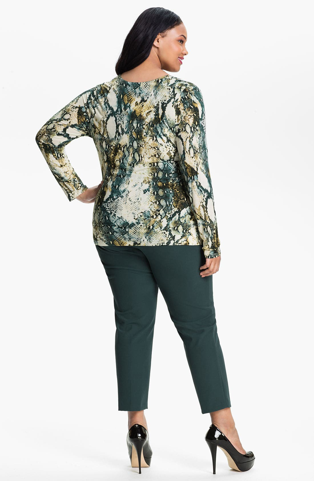 Alternate Image 2  - Kenneth Cole New York Faux Wrap Knit Top (Plus)