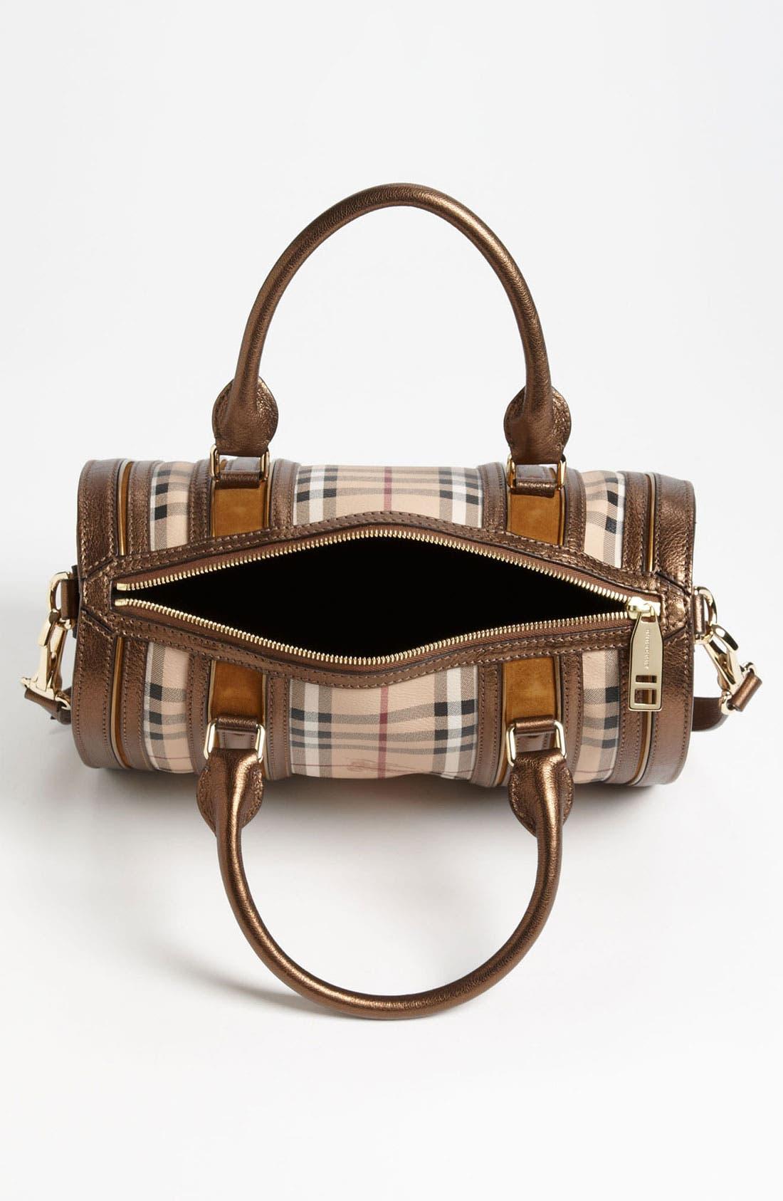 Alternate Image 3  - Burberry 'Haymarket Check' Bowling Bag