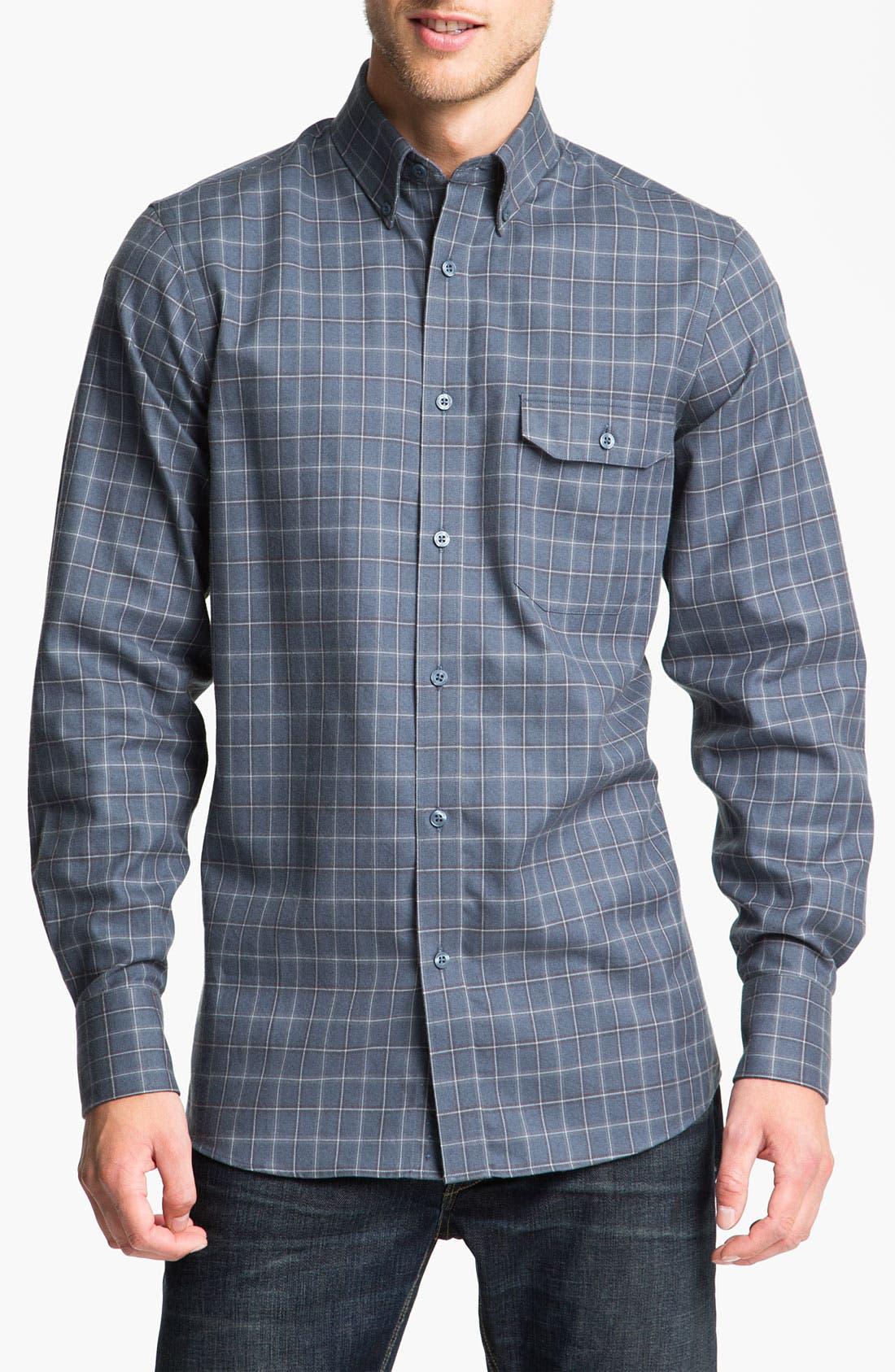 Alternate Image 1 Selected - Nordstrom Regular Fit Cotton Flannel Shirt