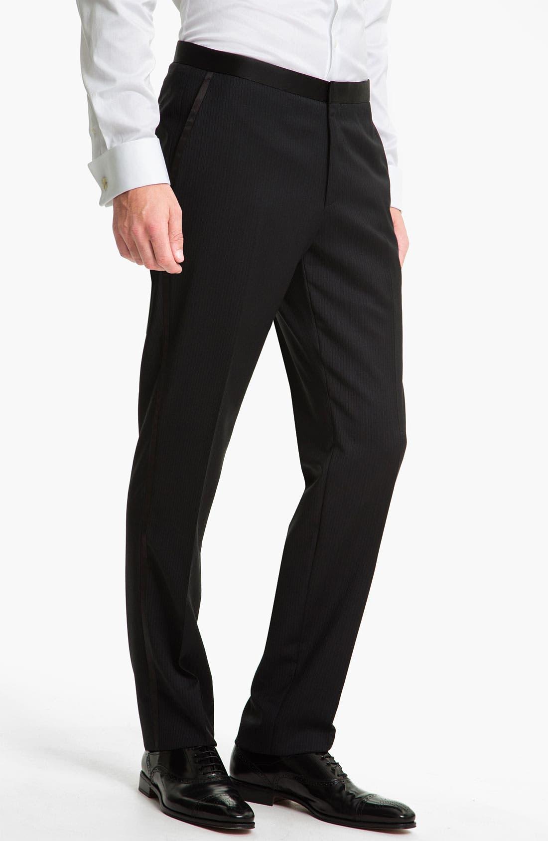 Alternate Image 4  - BOSS Black 'The Joy/Gala' Trim Fit Stripe Tuxedo