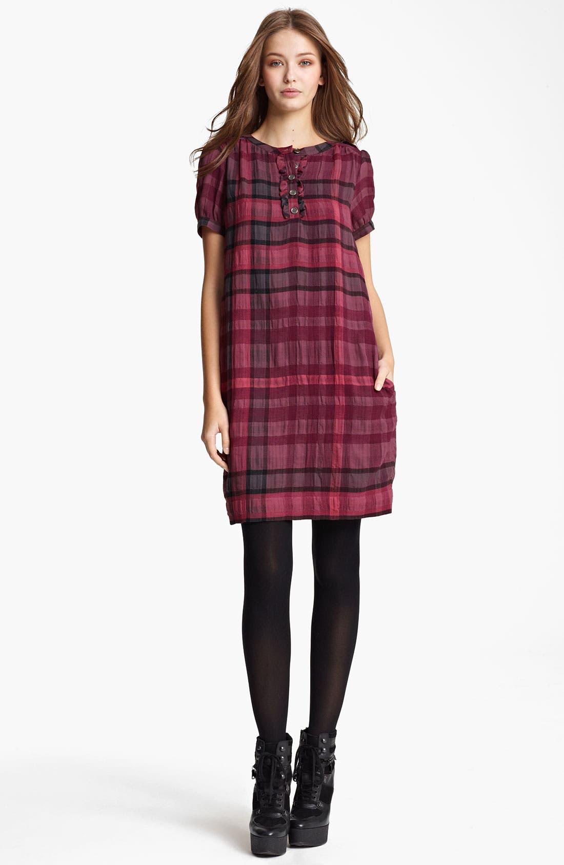 Alternate Image 1 Selected - Burberry Brit Check Print Dress