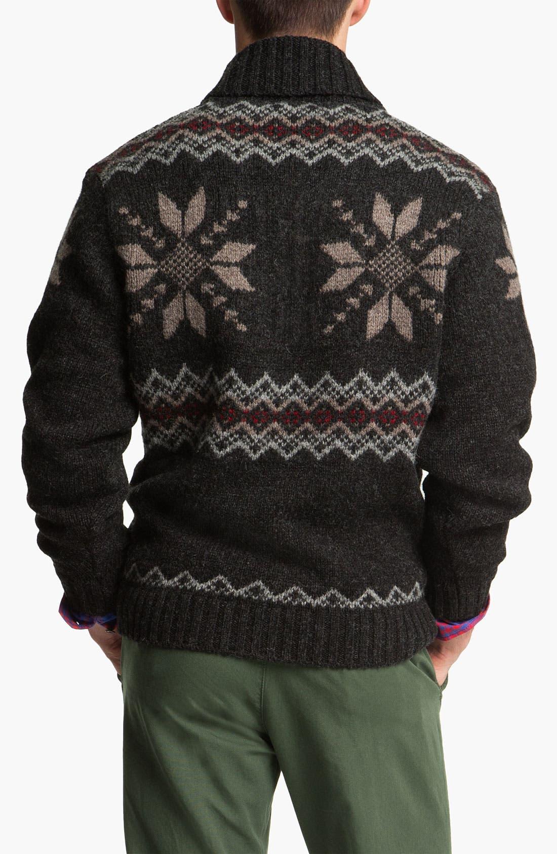 Alternate Image 2  - Pendleton Fair Isle Shawl Collar Shetland Wool Sweater