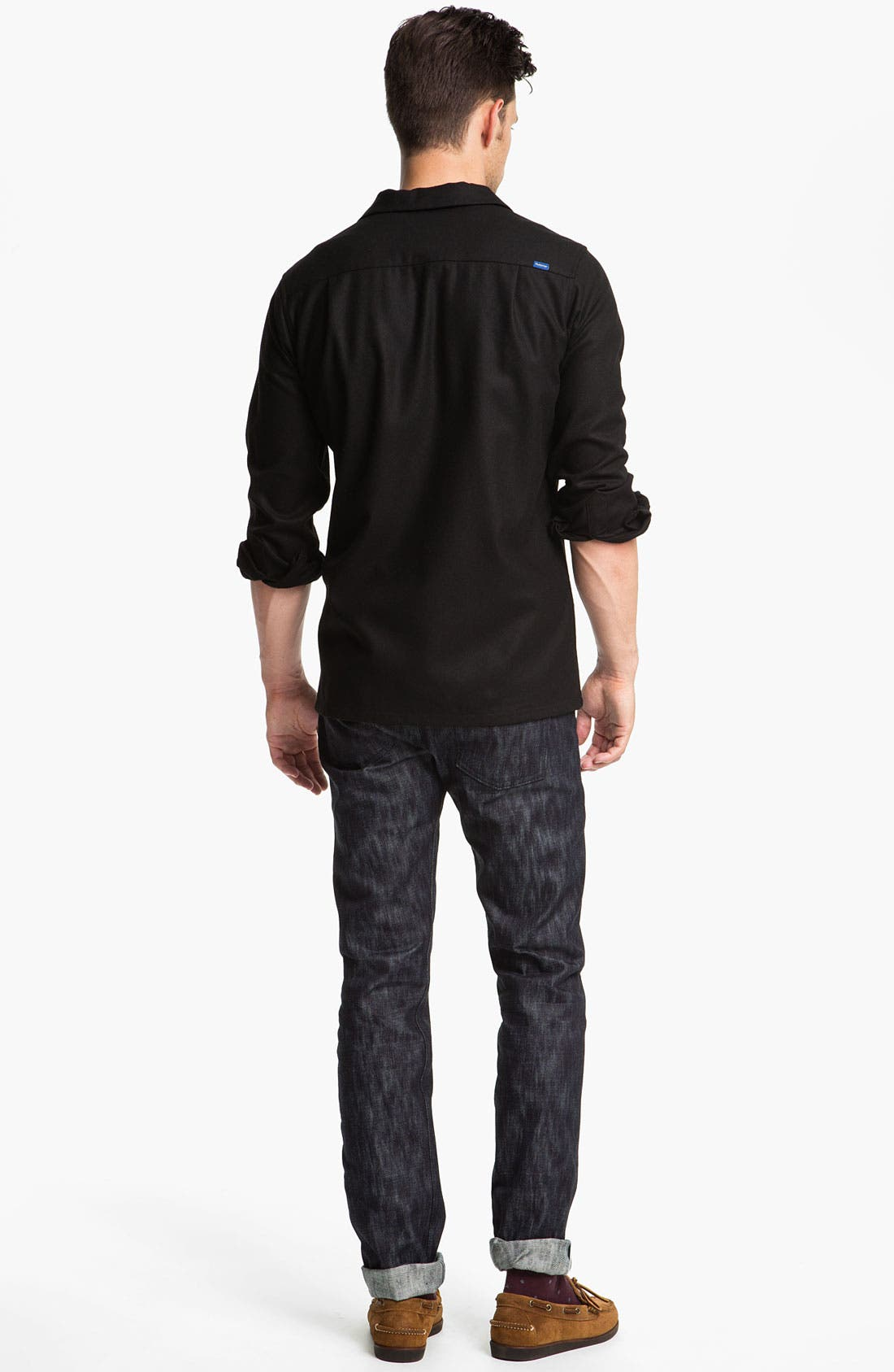 Alternate Image 6  - Naked & Famous Denim 'Weird Guy' Slim Tapered Leg Selvedge Jeans (Slubbed Indigo)