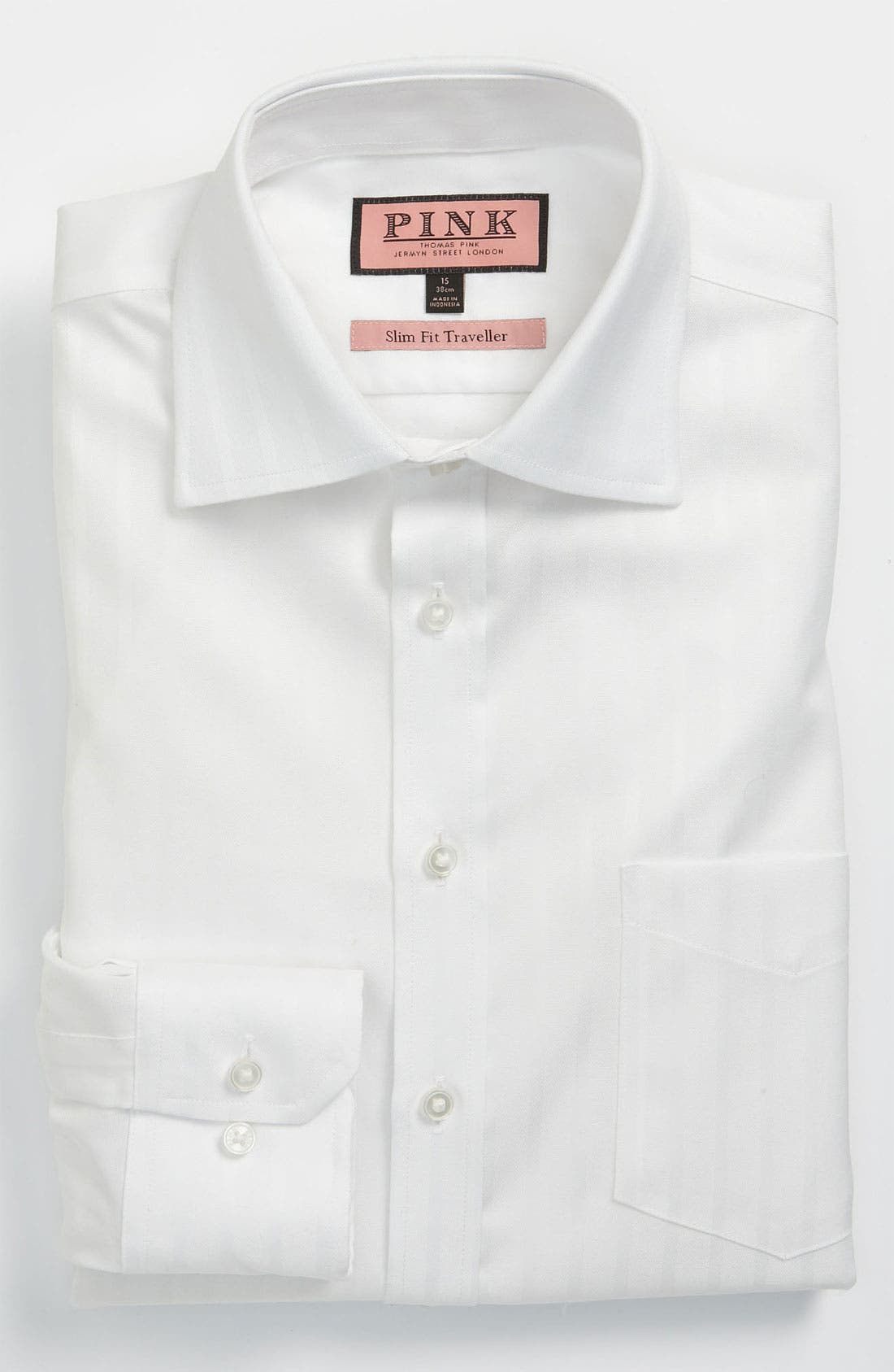 Main Image - Thomas Pink Slim Fit Non-Iron Dress Shirt