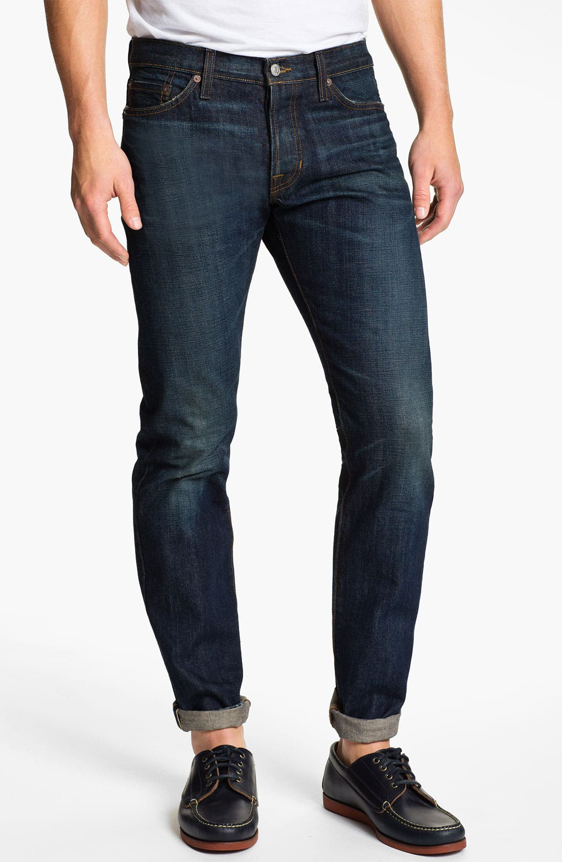 Main Image - Vince Selvedge Slim Straight Leg Jeans (One Year)