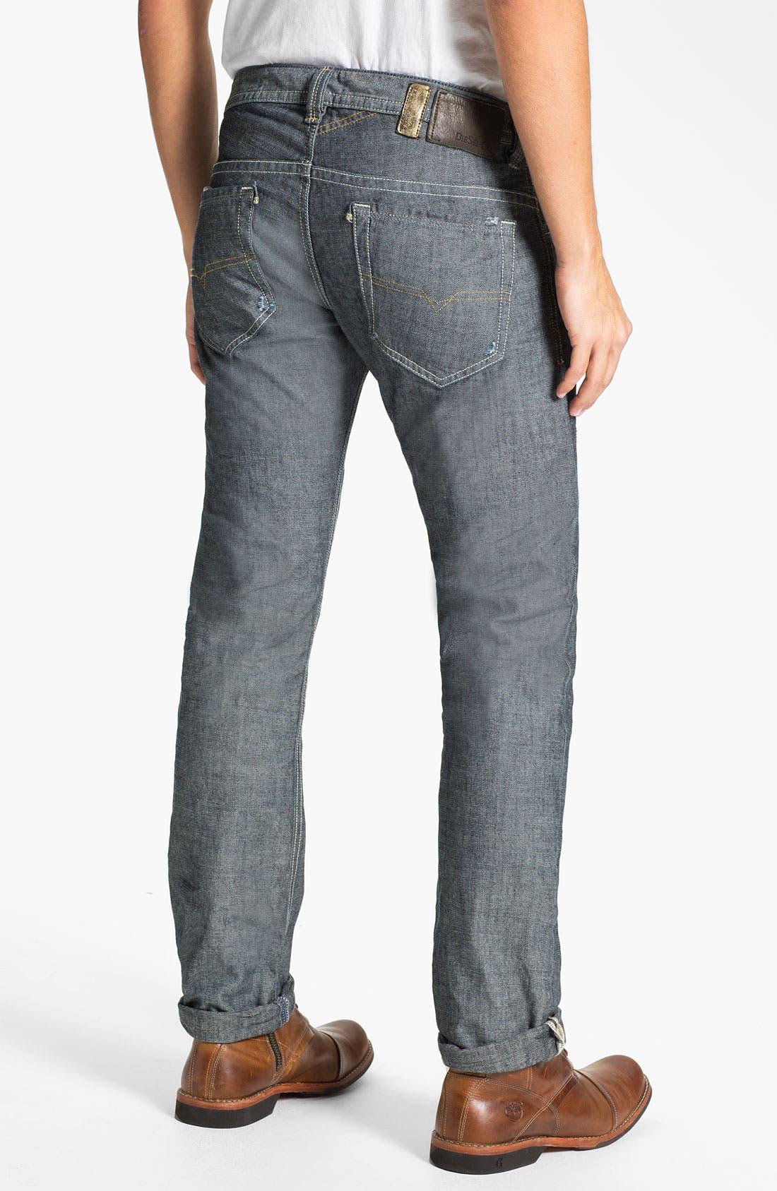 Main Image - DIESEL® 'Thavar' Slim Straight Leg Jeans (0809D) (Online Exclusive)