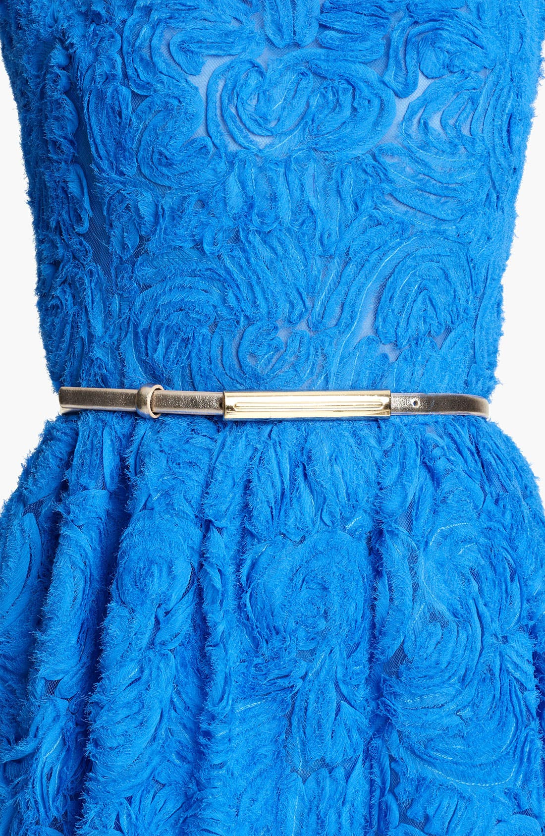 Alternate Image 1 Selected - Oscar de la Renta Metallic Leather Belt