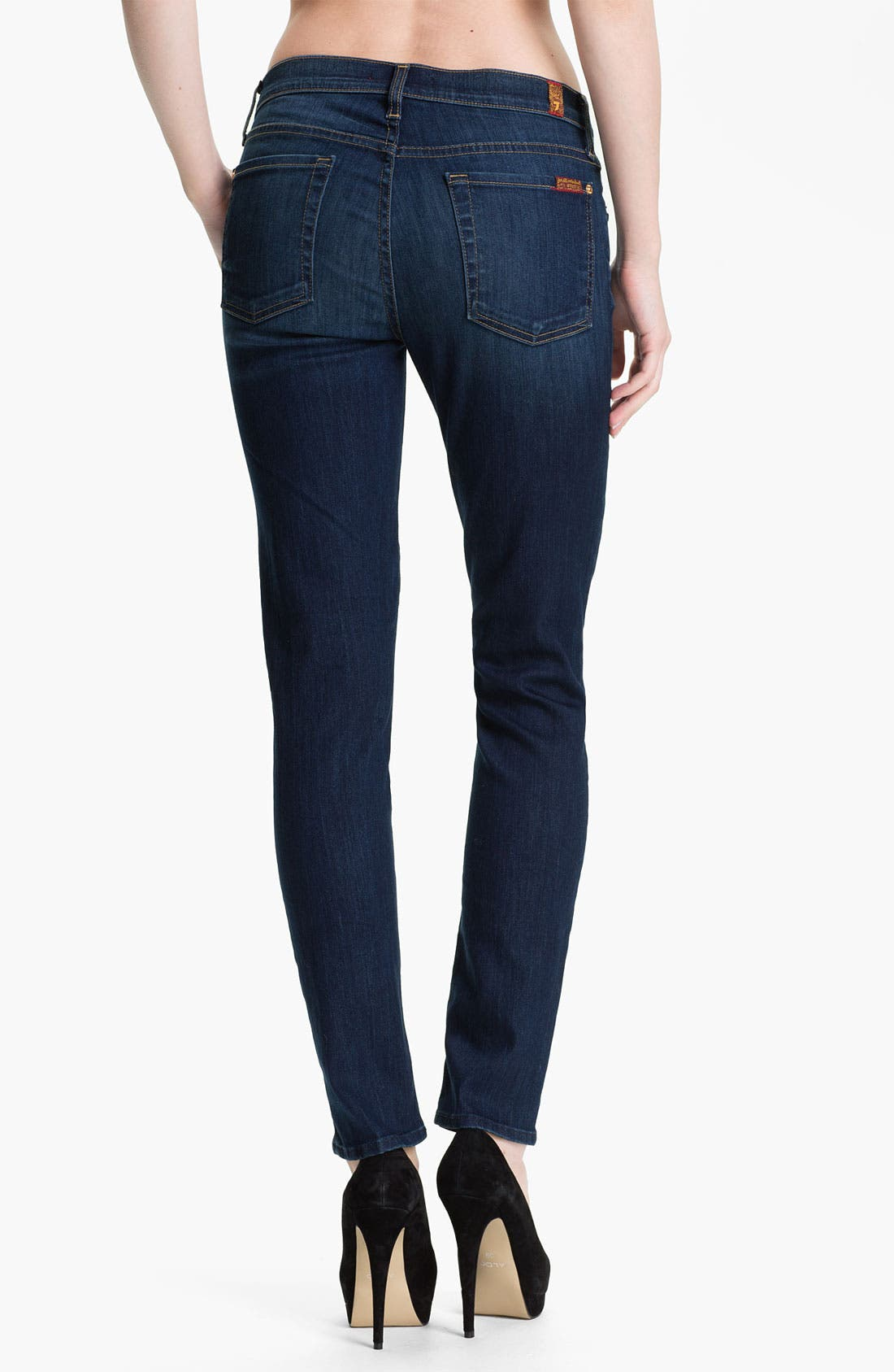 Alternate Image 2  - 7 For All Mankind® 'The Slim Cigarette' Stretch Jeans (Sophisticated Siren)