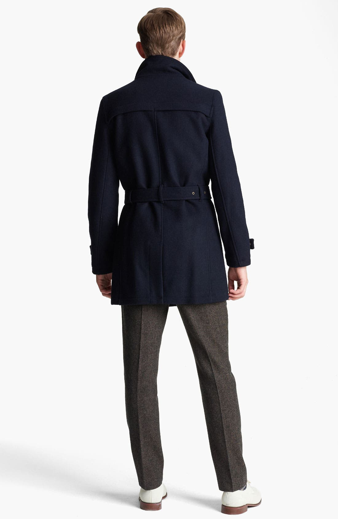 Alternate Image 5  - Topman Funnel Neck Trench Coat