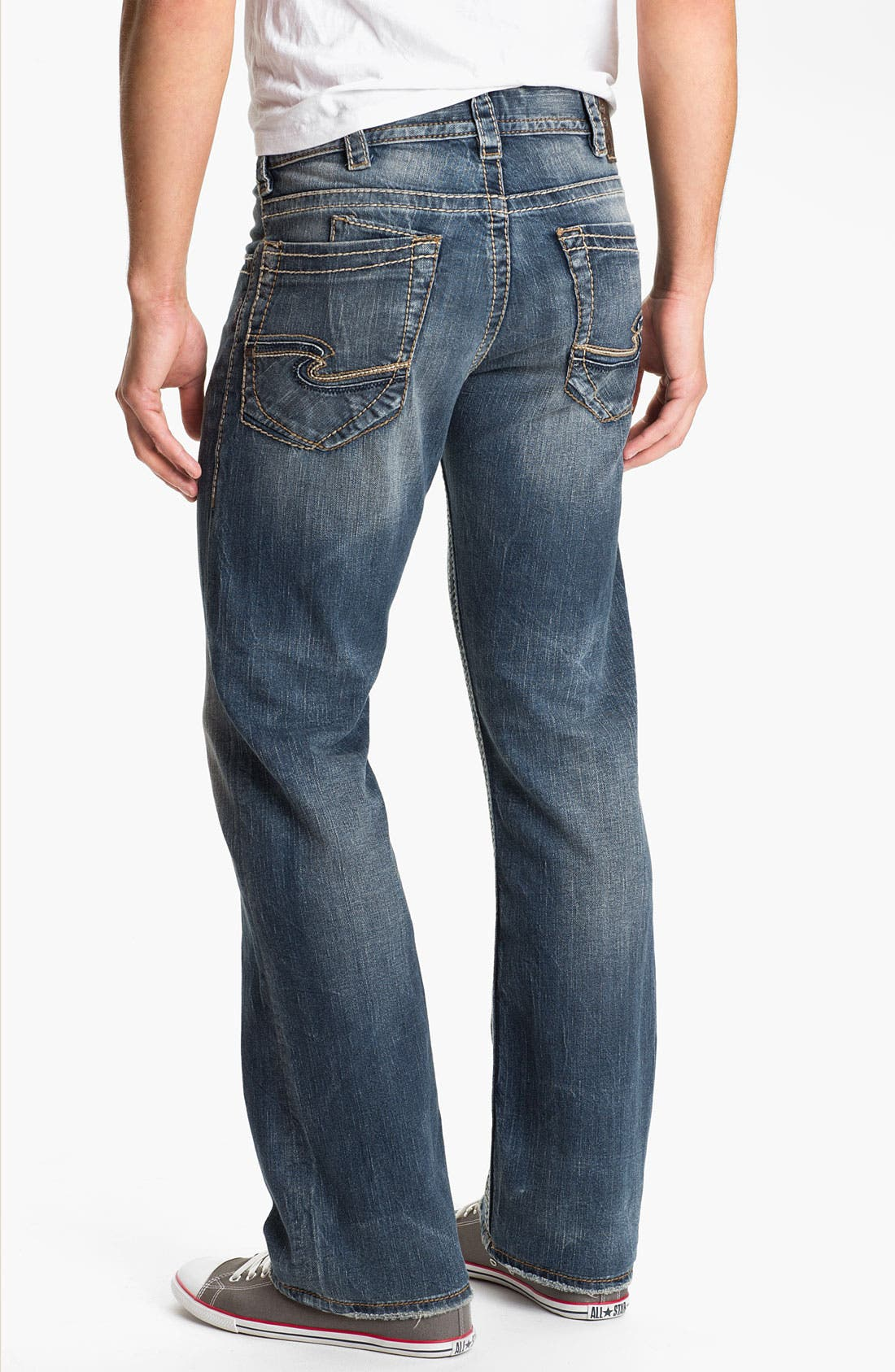 Alternate Image 1 Selected - Silver Jeans Co. 'Zac' Straight Leg Jeans (Indigo)