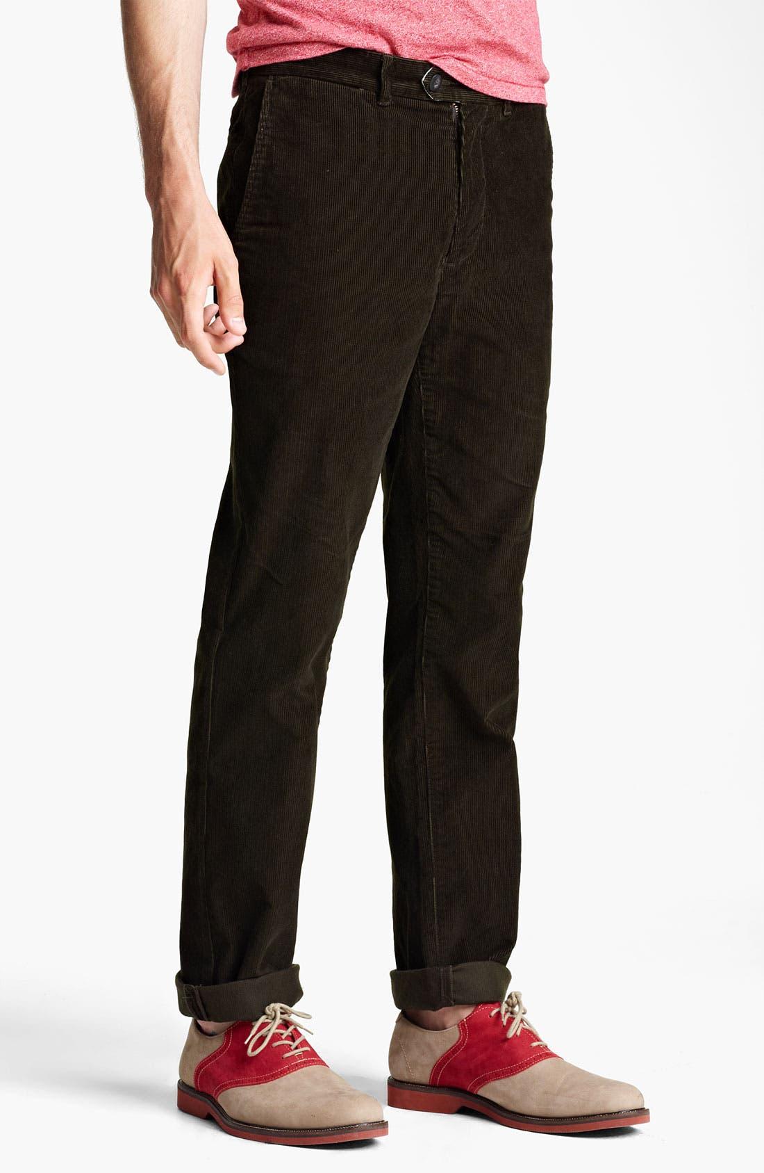 Alternate Image 1 Selected - Jack Spade 'Dolan' Straight Leg Corduroy Pants
