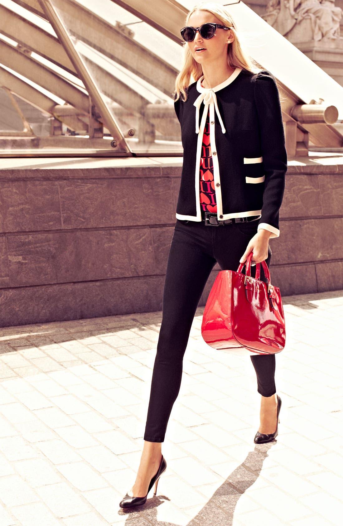 Alternate Image 4  - Milly 'Marizia' Bow Detail Jacket