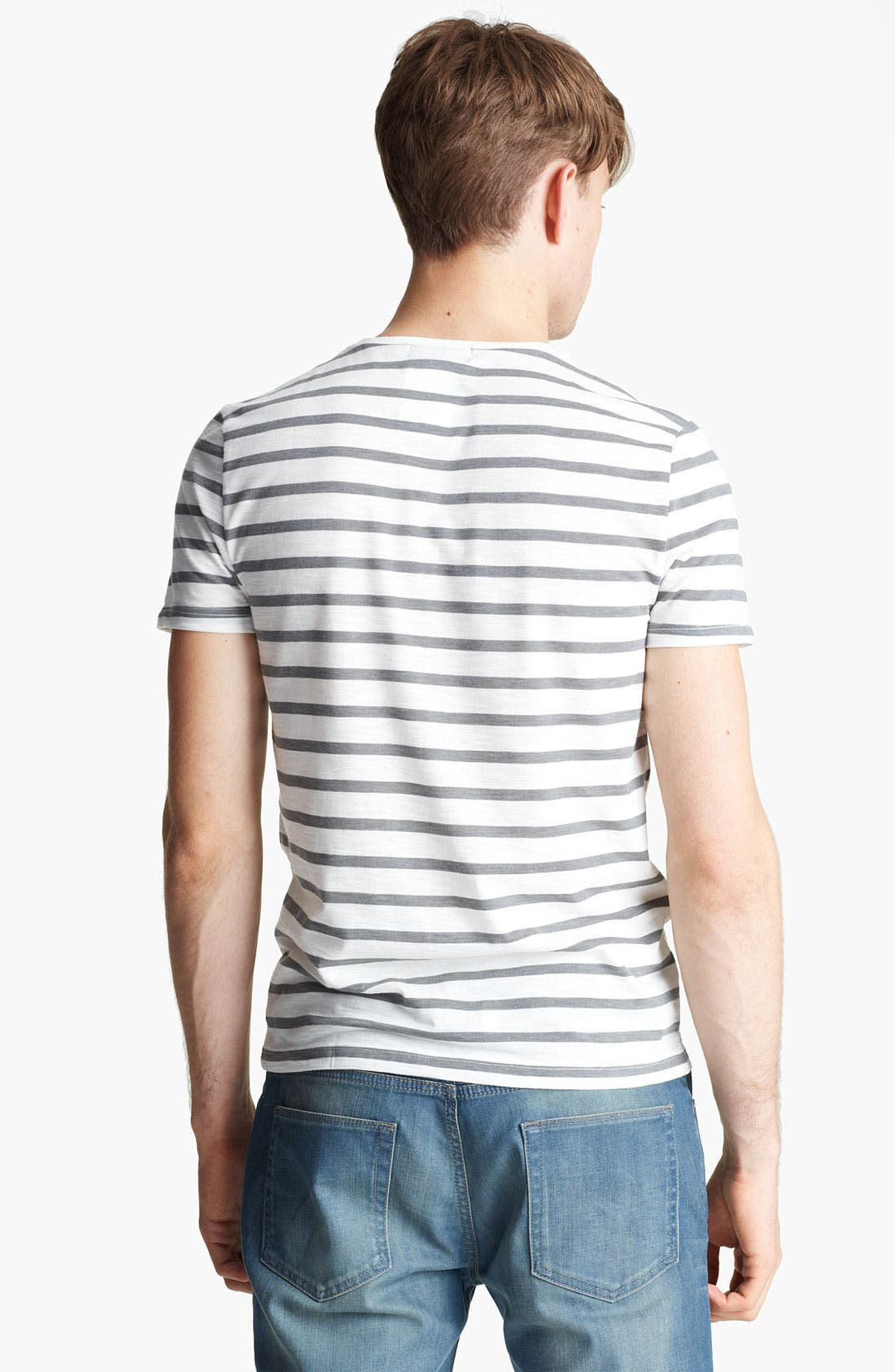 Alternate Image 2  - Topman Slub Stripe T-Shirt