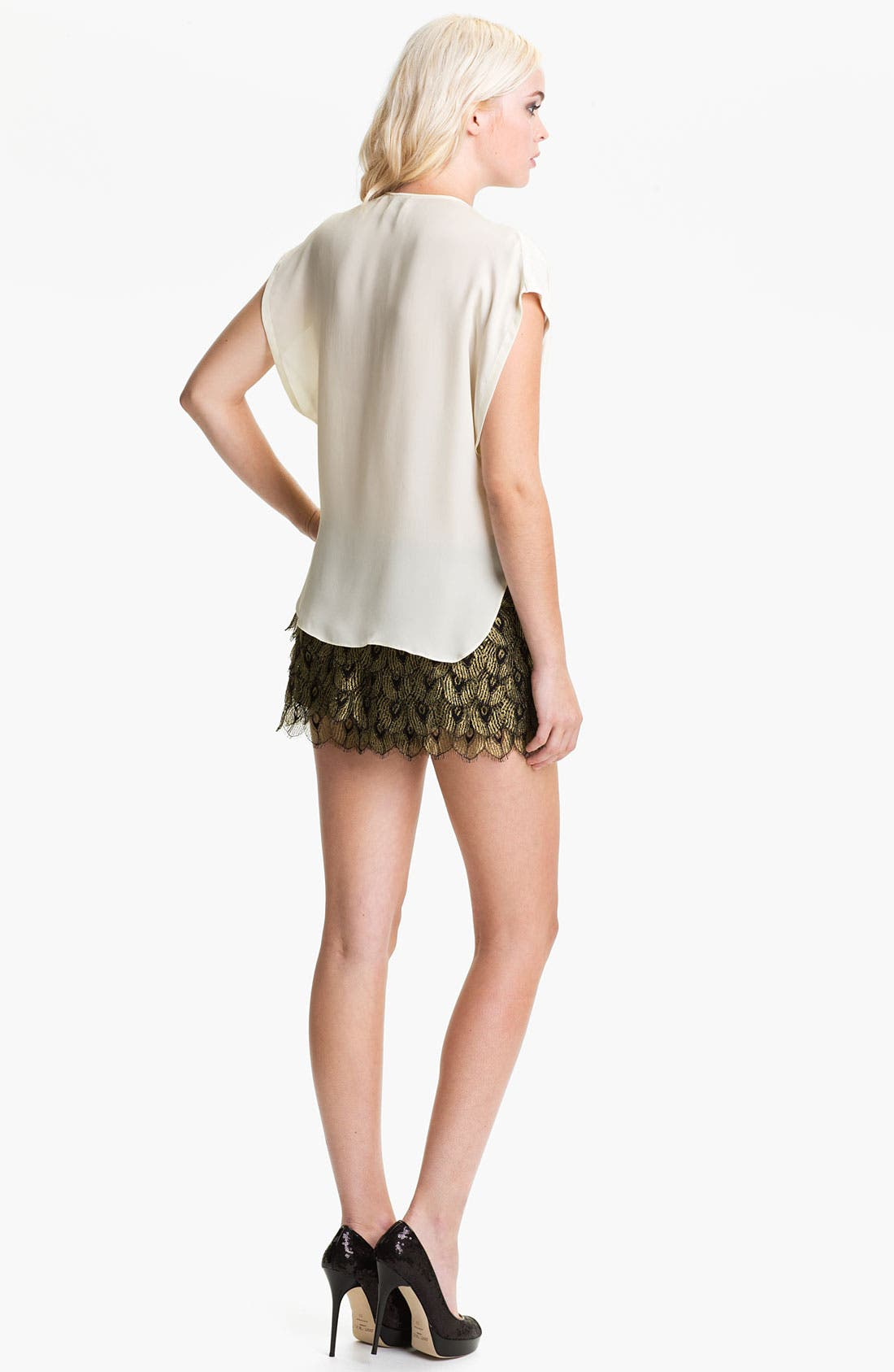 Alternate Image 5  - Haute Hippie 'Gilded Peacock' Lace Shorts