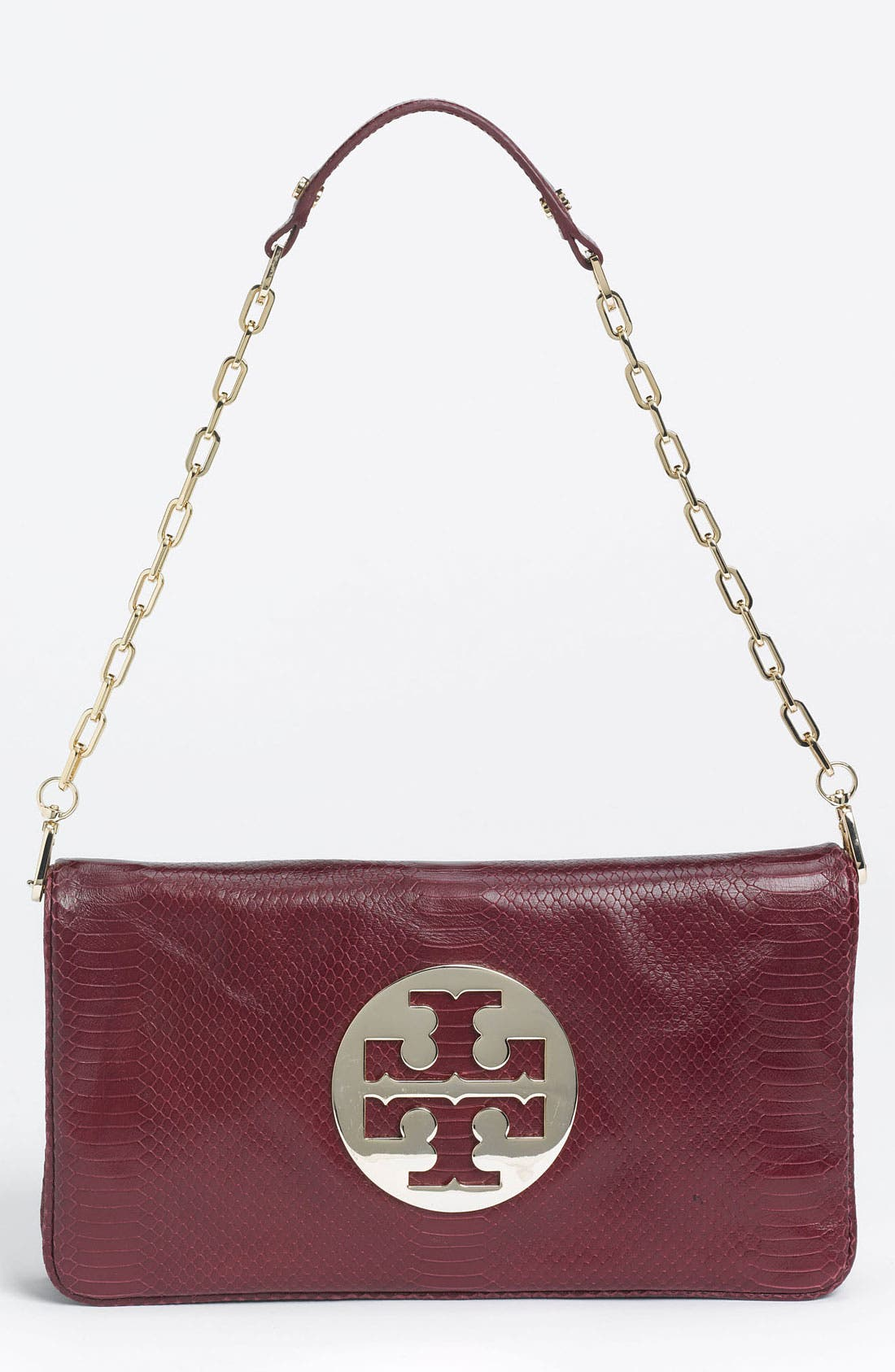 Main Image - Tory Burch 'Reve' Snake Embossed Clutch