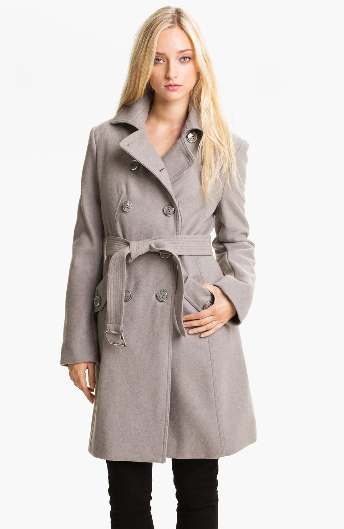 Alternate Image 1 Selected - Kenneth Cole New York Wool Blend Trench Coat