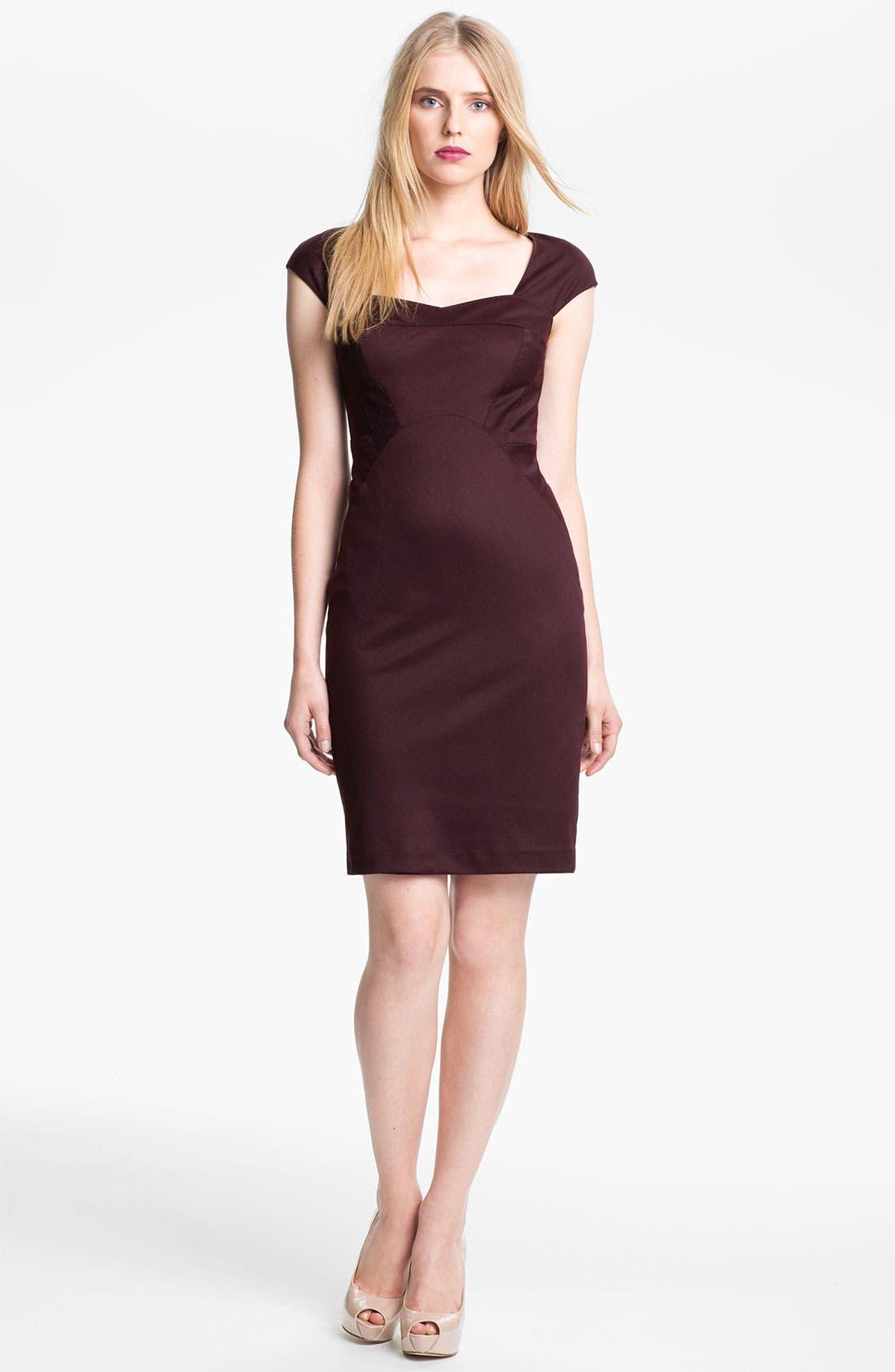 Alternate Image 1 Selected - Ted Baker London 'Priad' Wool Blend Sheath Dress