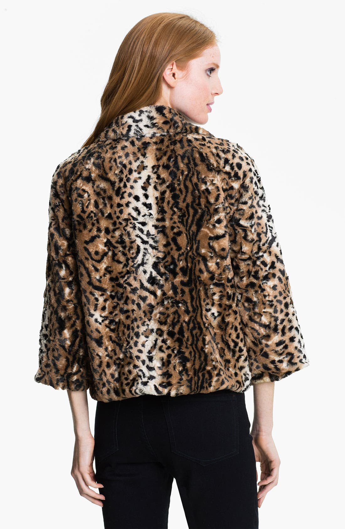 Alternate Image 2  - Chaus Faux Leopard Fur Jacket