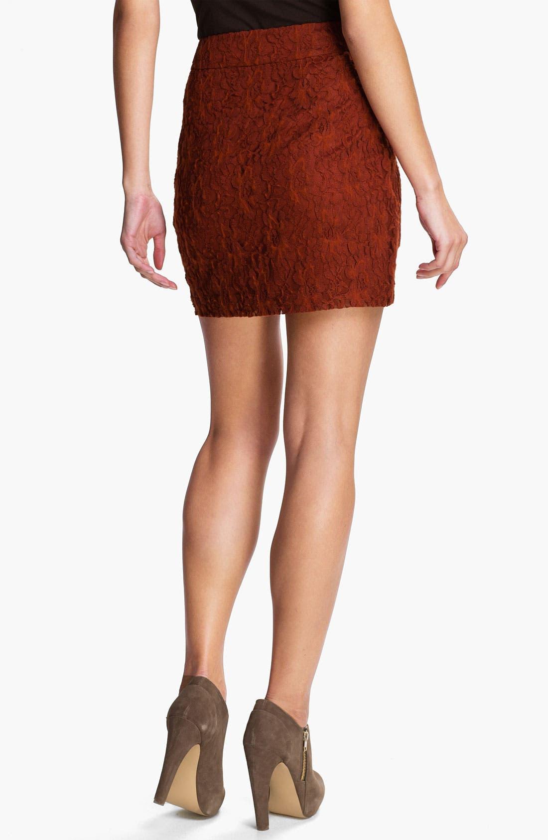 Alternate Image 2  - Kensie 'Fuzzy Lace' Skirt (Online Exclusive)