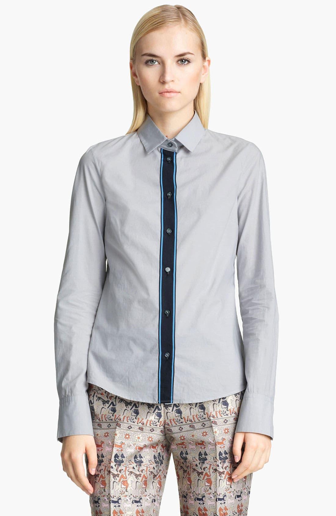 Alternate Image 1 Selected - Jil Sander Navy Contrast Shirt