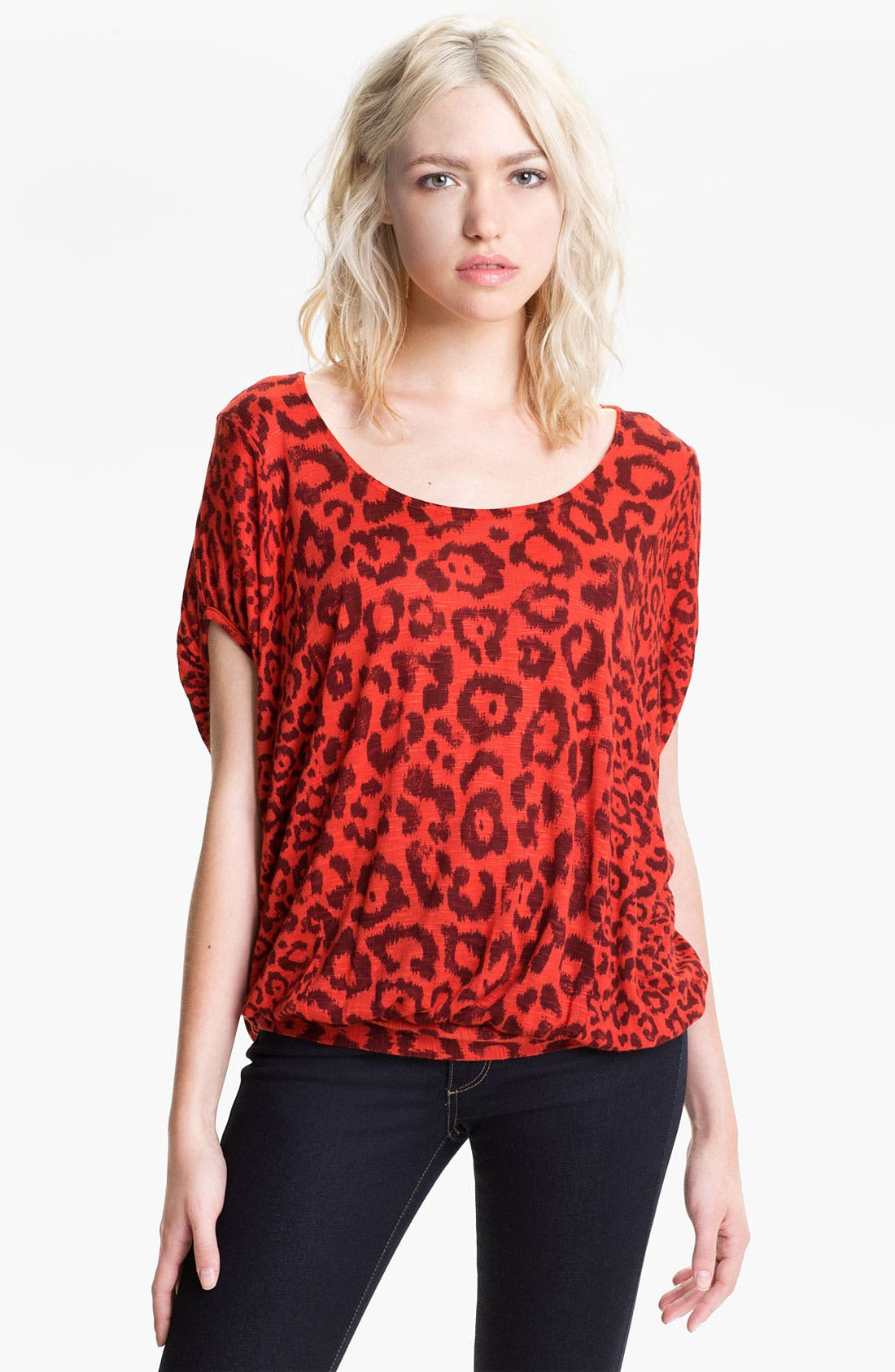 Alternate Image 1 Selected - Ella Moss 'Felix' Animal Print Dolman Top
