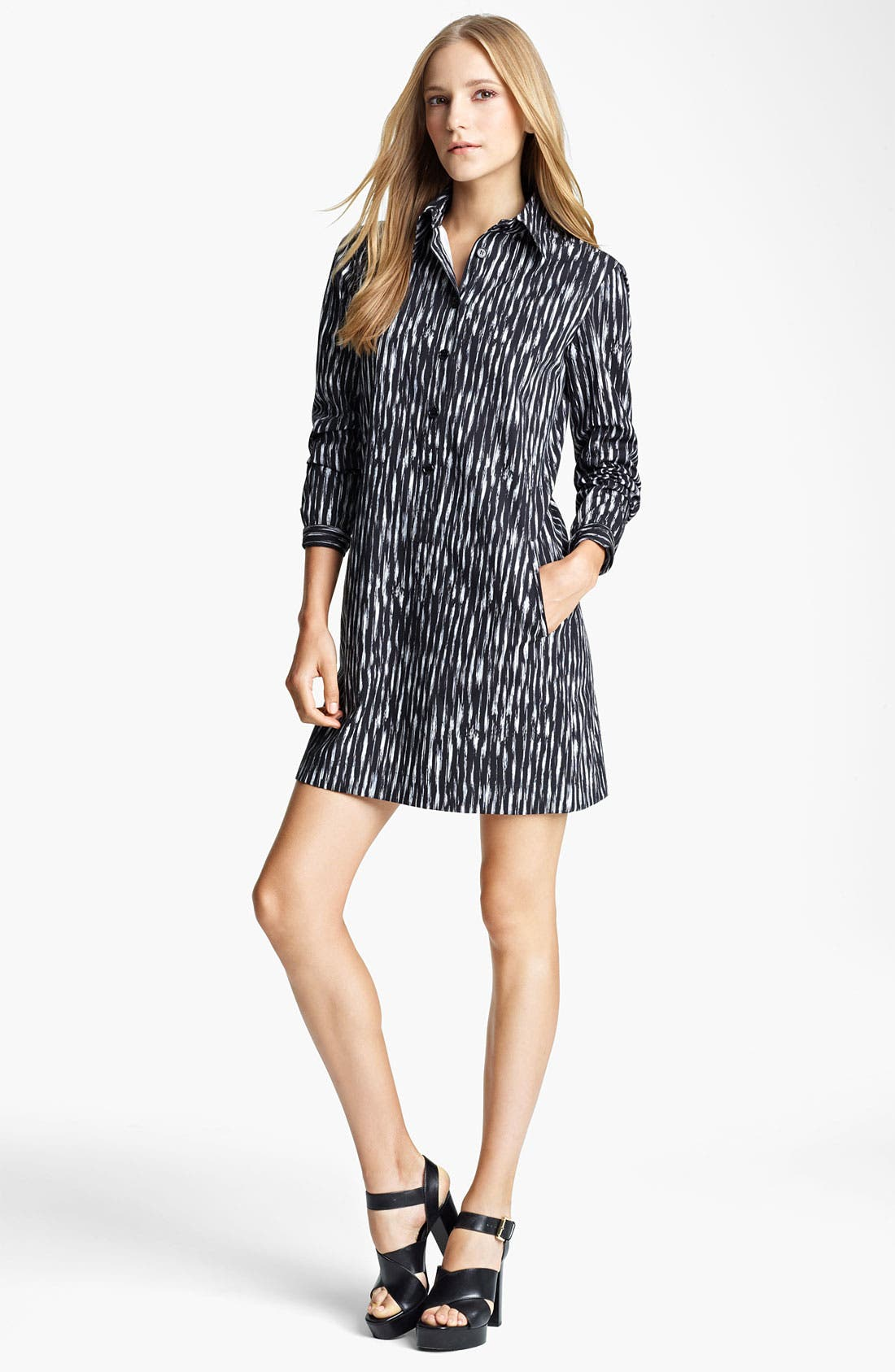 Alternate Image 1 Selected - Michael Kors Ikat Print Poplin Tunic Dress