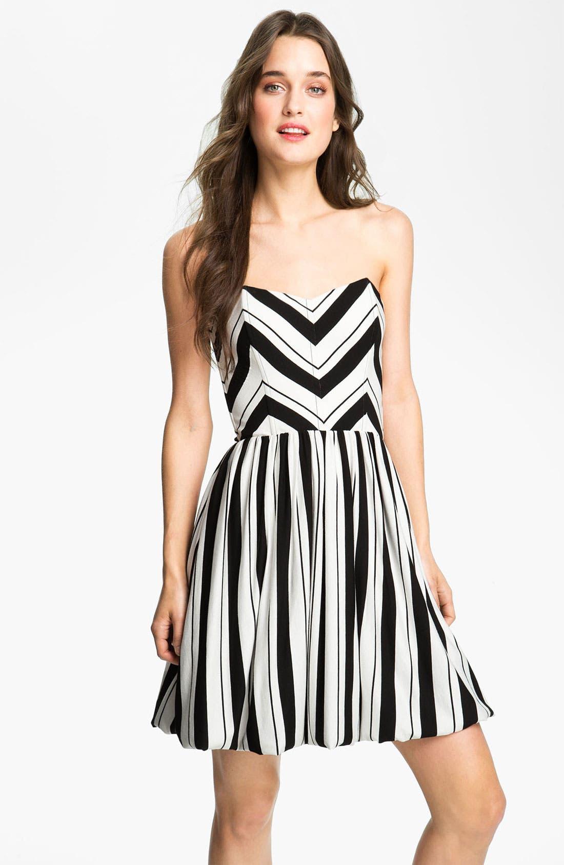 Main Image - Ella Moss Stripe Strapless Dress
