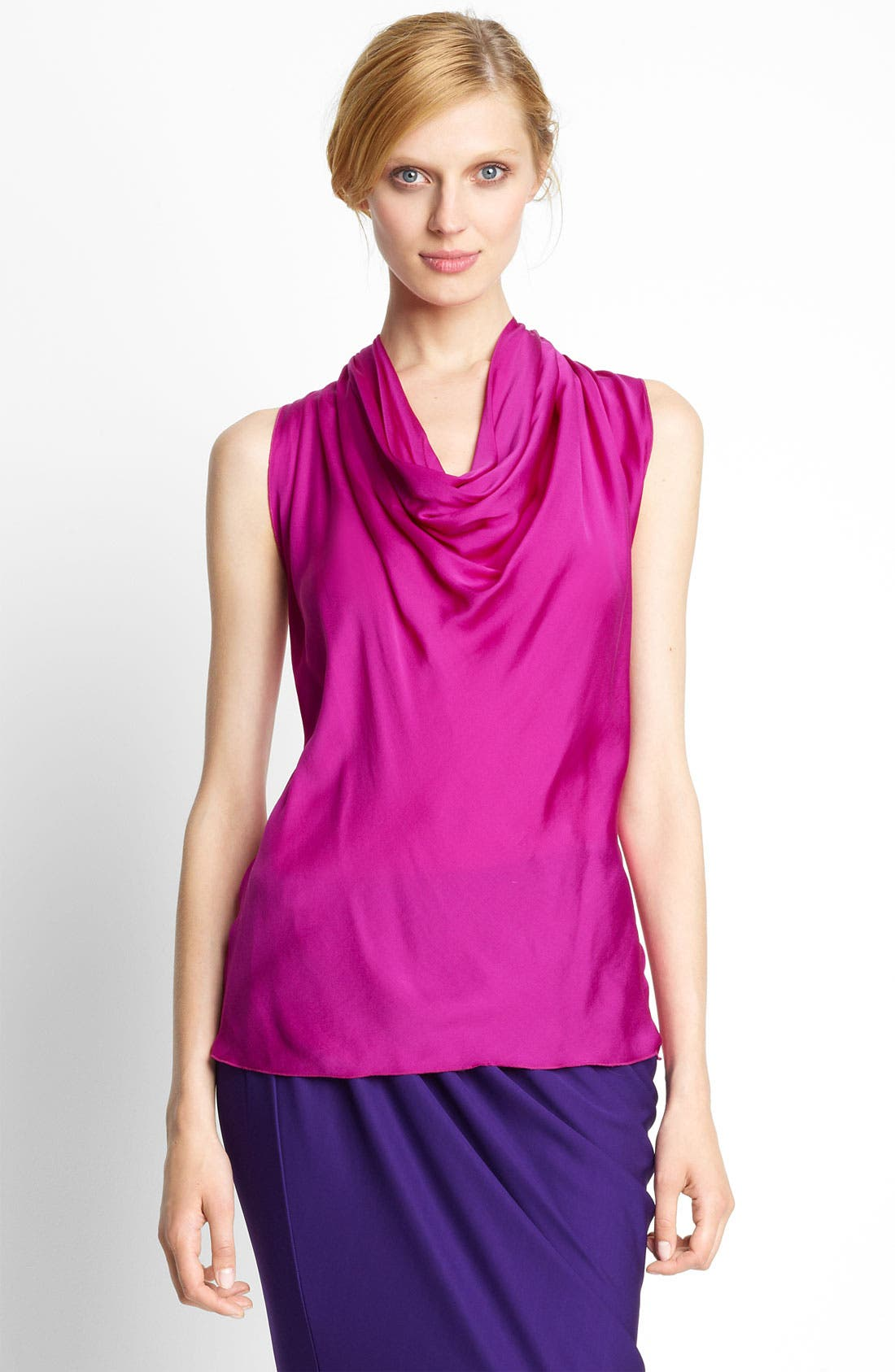 Main Image - Lanvin Feather Silk Halter Blouse