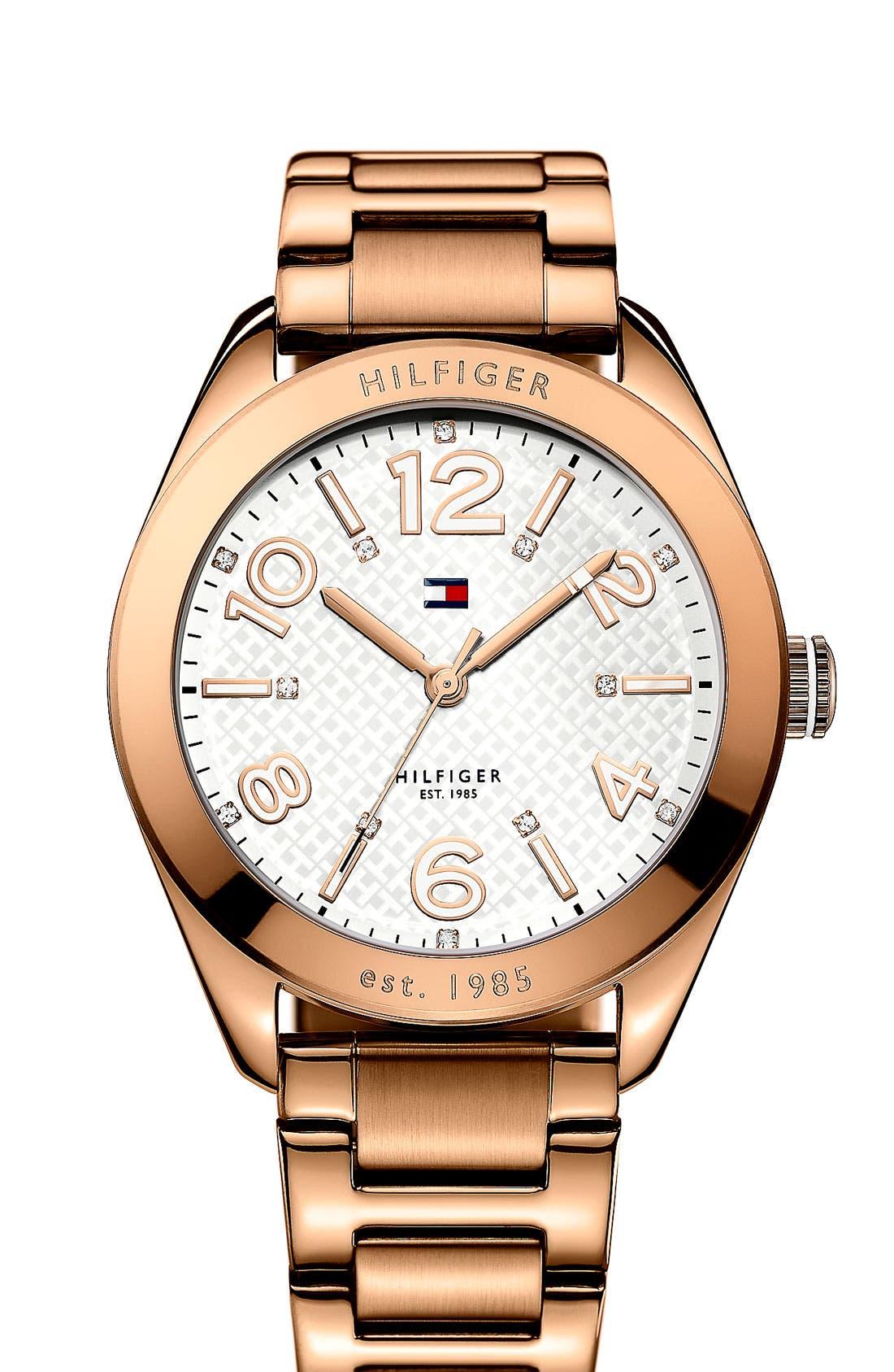 Alternate Image 1 Selected - Tommy Hilfiger Round Bracelet Watch, 40mm
