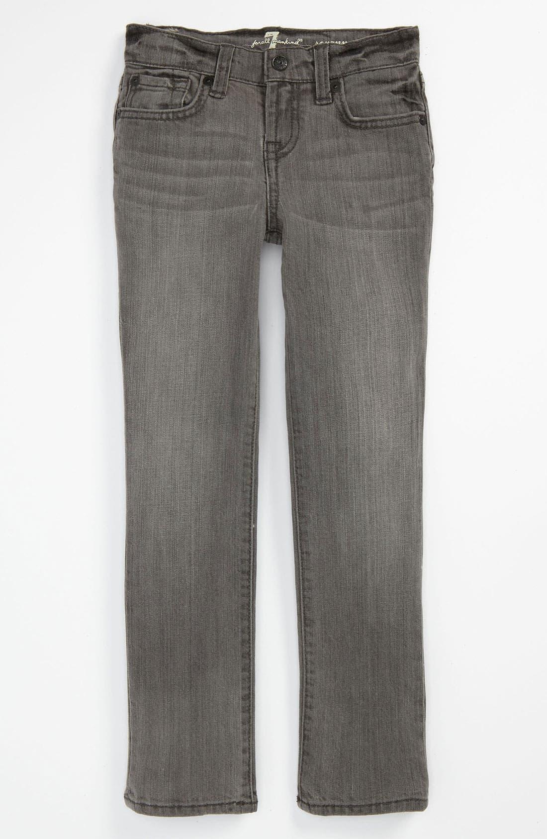 Alternate Image 2  - 7 For All Mankind® 'Roxanne' Skinny Jeans (Little Girls)