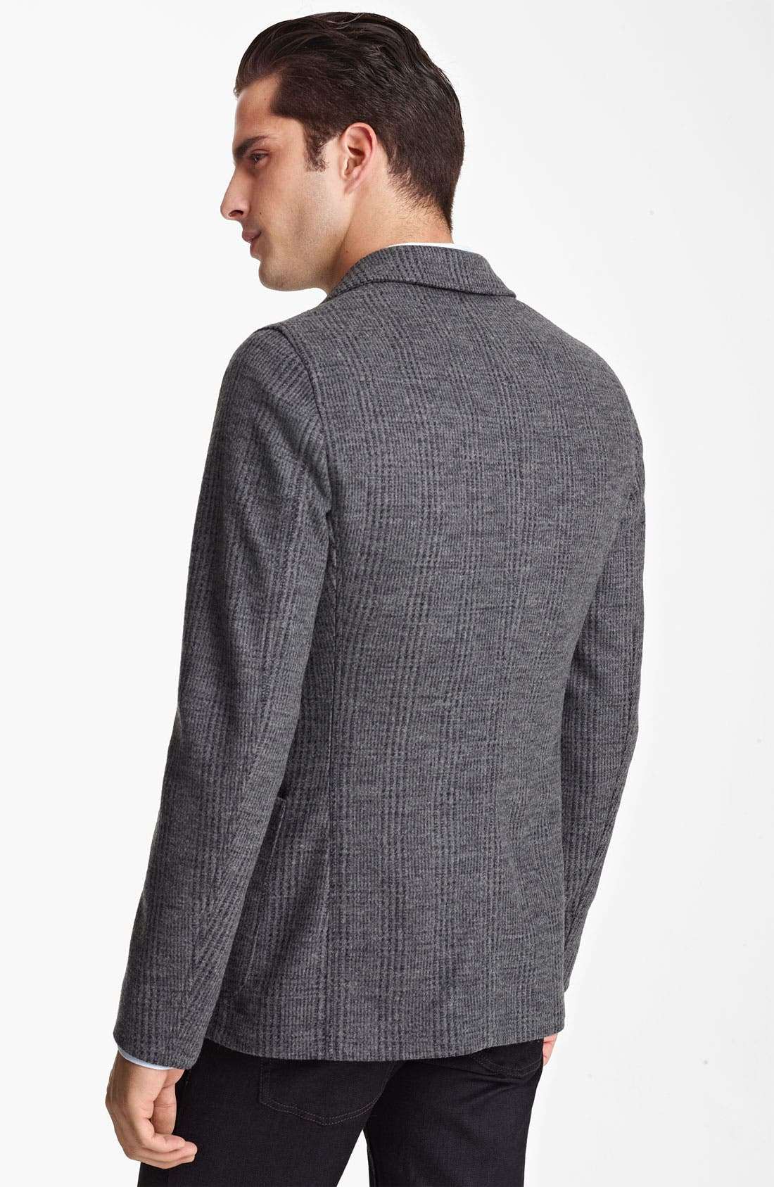 Alternate Image 2  - Armani Collezioni Trim Fit Knit Blazer