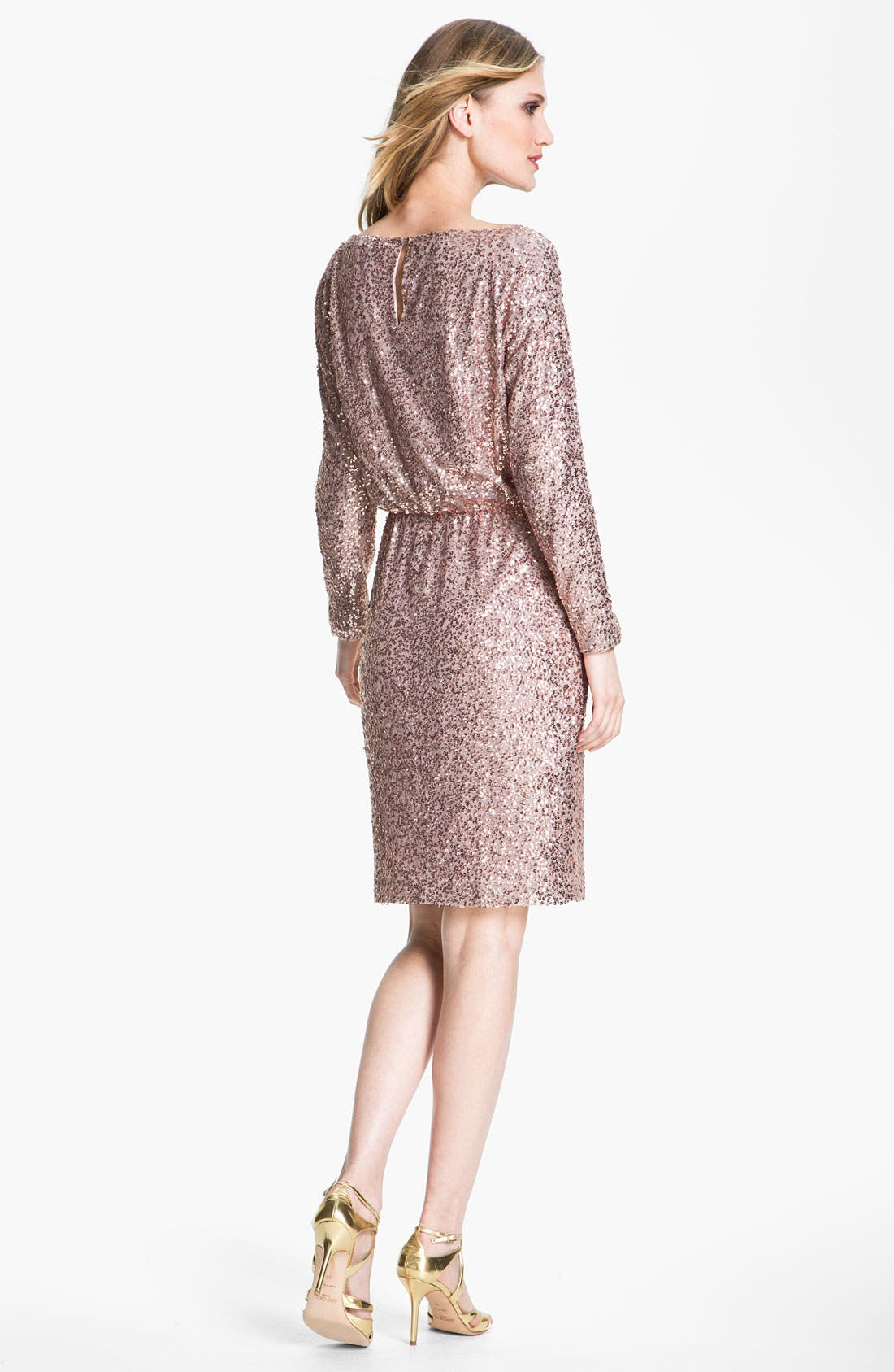 Alternate Image 2  - St. John Collection Bateau Neck Sequin Dress