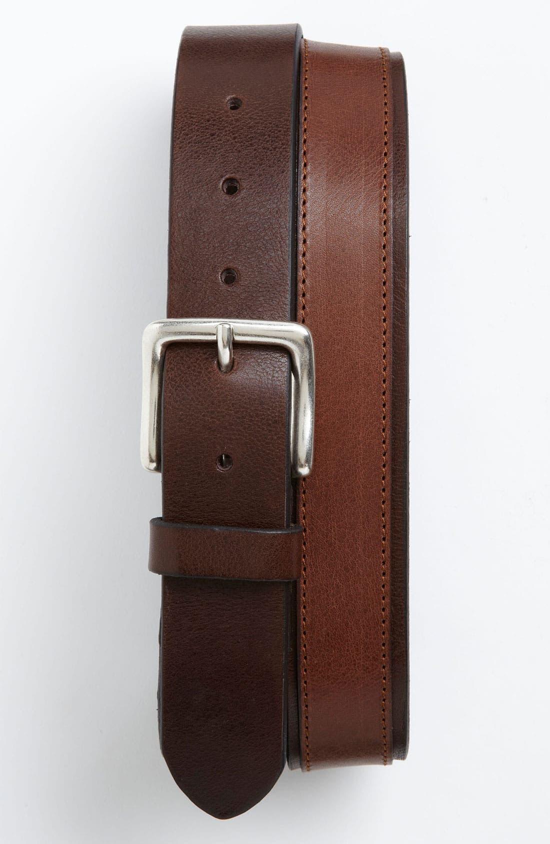 Alternate Image 1 Selected - Trafalgar 'Belden' Leather Belt