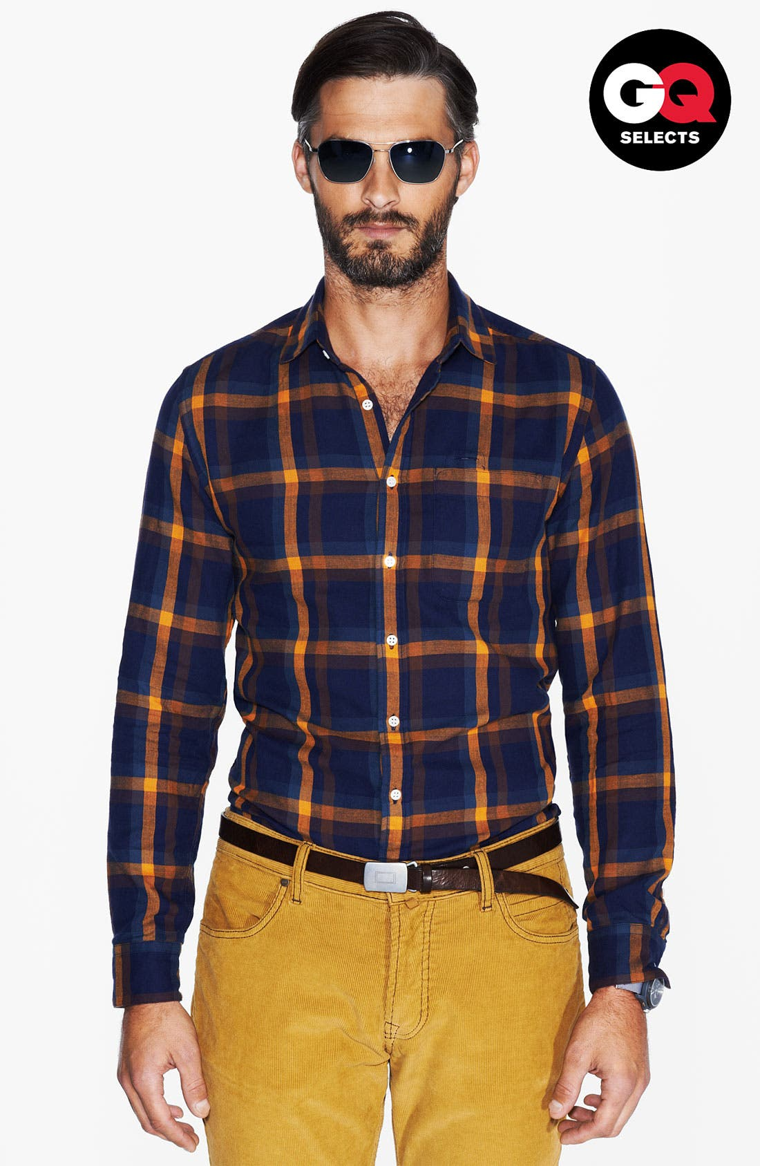 Alternate Image 1 Selected - Shipley & Halmos Washed Cotton Woven Shirt