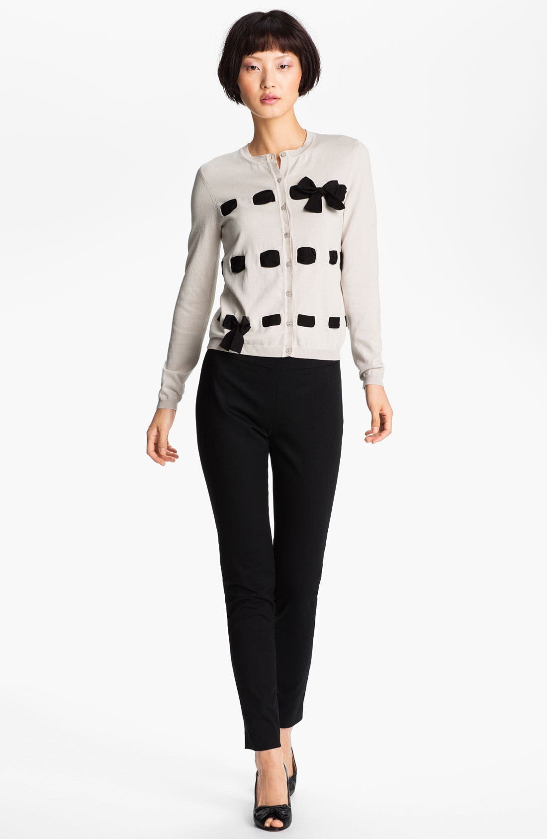 Alternate Image 1 Selected - RED Valentino Ribbon & Bow Detail Cardigan
