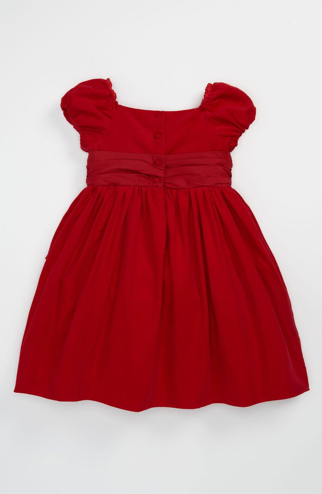 Alternate Image 2  - Ralph Lauren Corduroy Party Dress (Toddler)