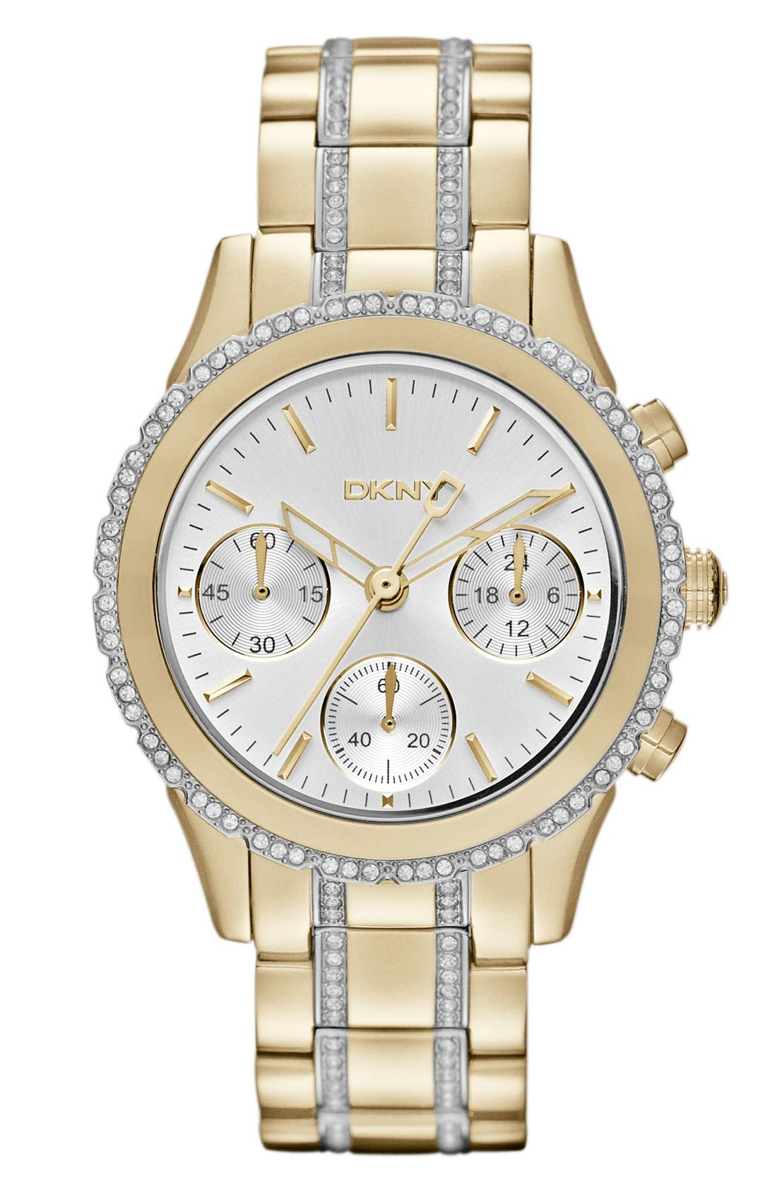 Alternate Image 1 Selected - DKNY Crystal Chronograph Bracelet Watch, 38mm