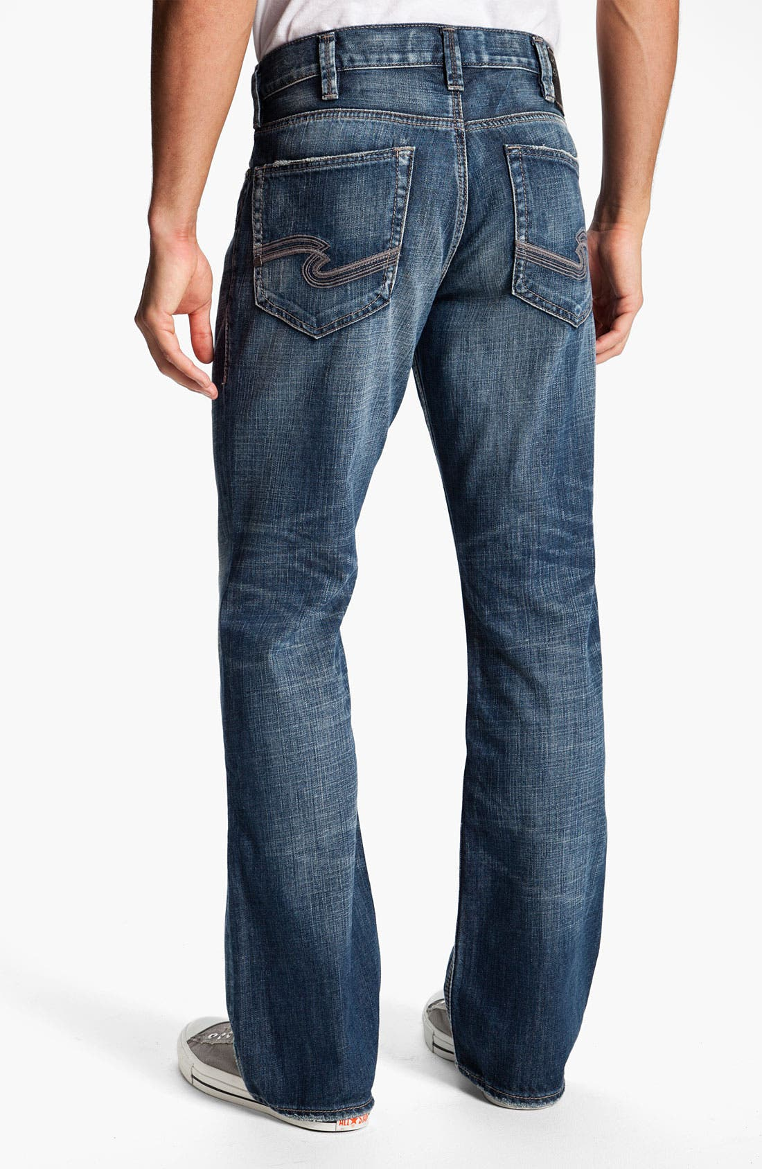 Alternate Image 1 Selected - Silver Jeans Co. 'Grayson' Relaxed Bootcut Jeans (Indigo)