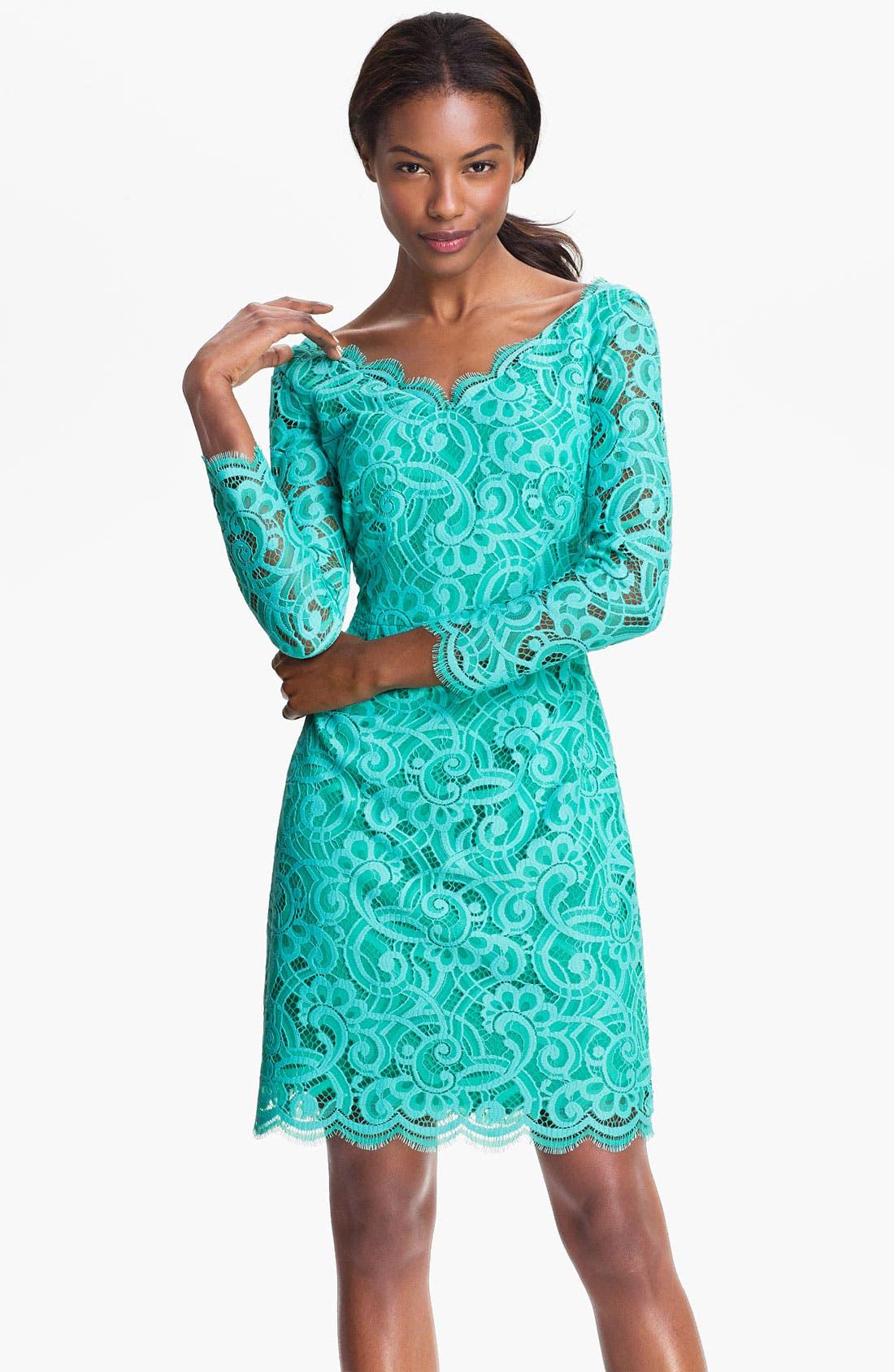 Alternate Image 1 Selected - Lilly Pulitzer® 'Helene' Double V-Neck Lace Dress