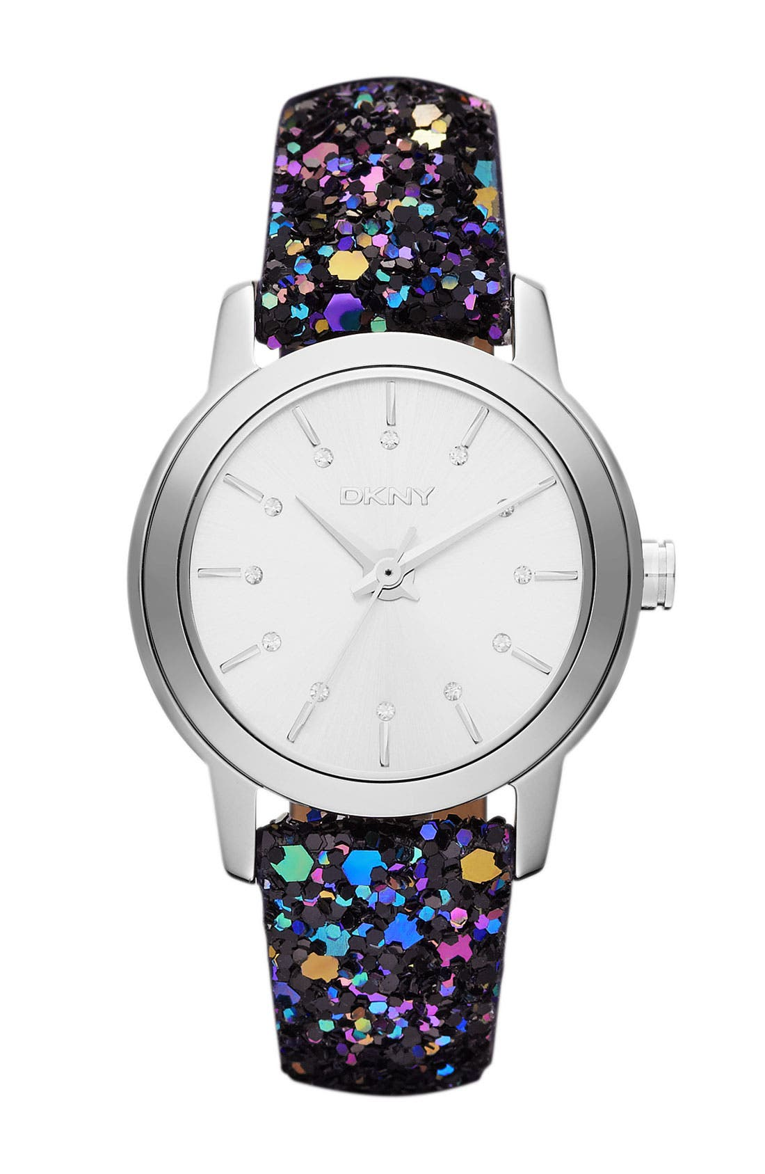 Alternate Image 1 Selected - DKNY Sparkle Strap Watch