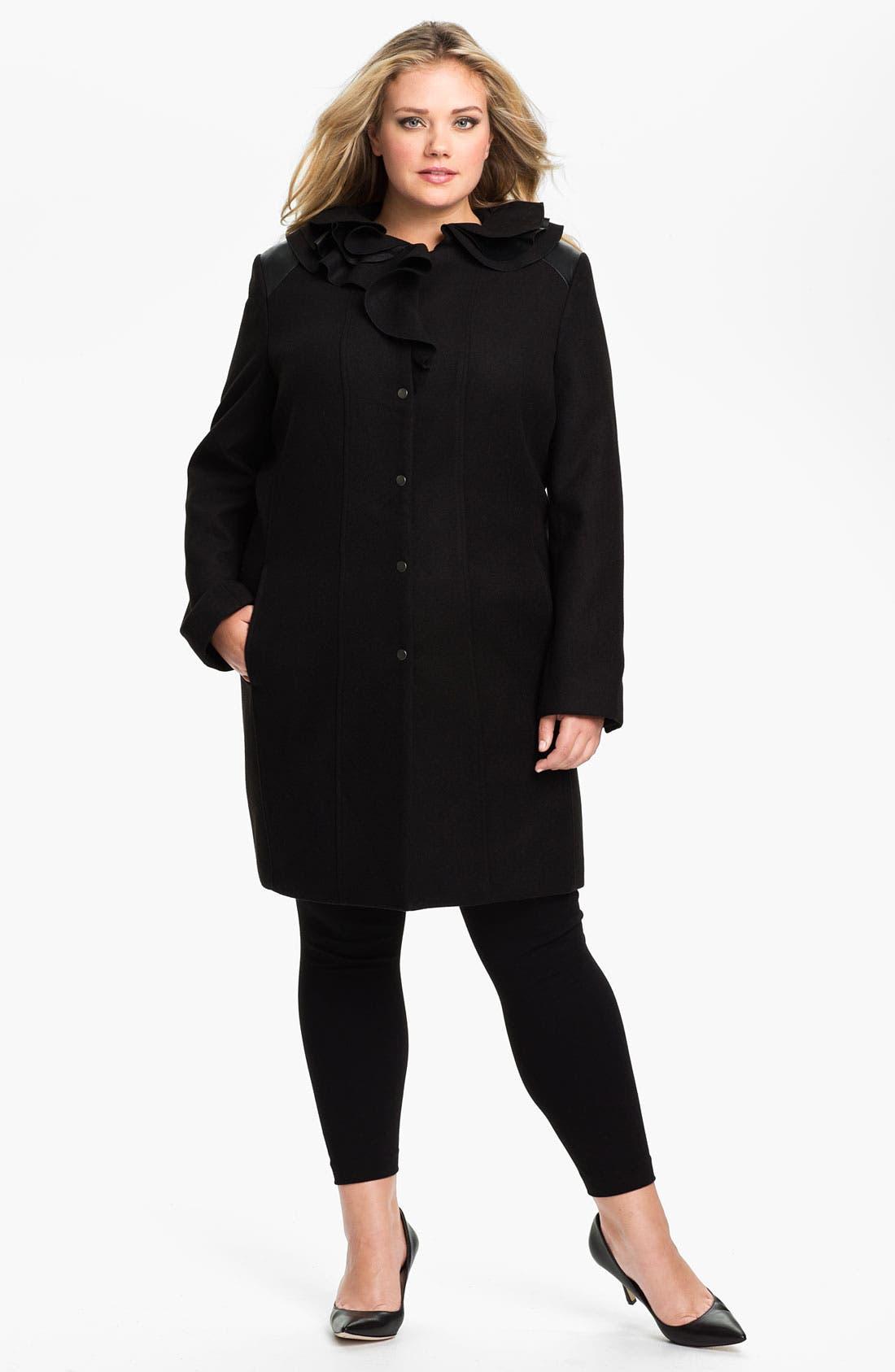 Main Image - Tahari Woman 'Millicent' Coat (Plus)