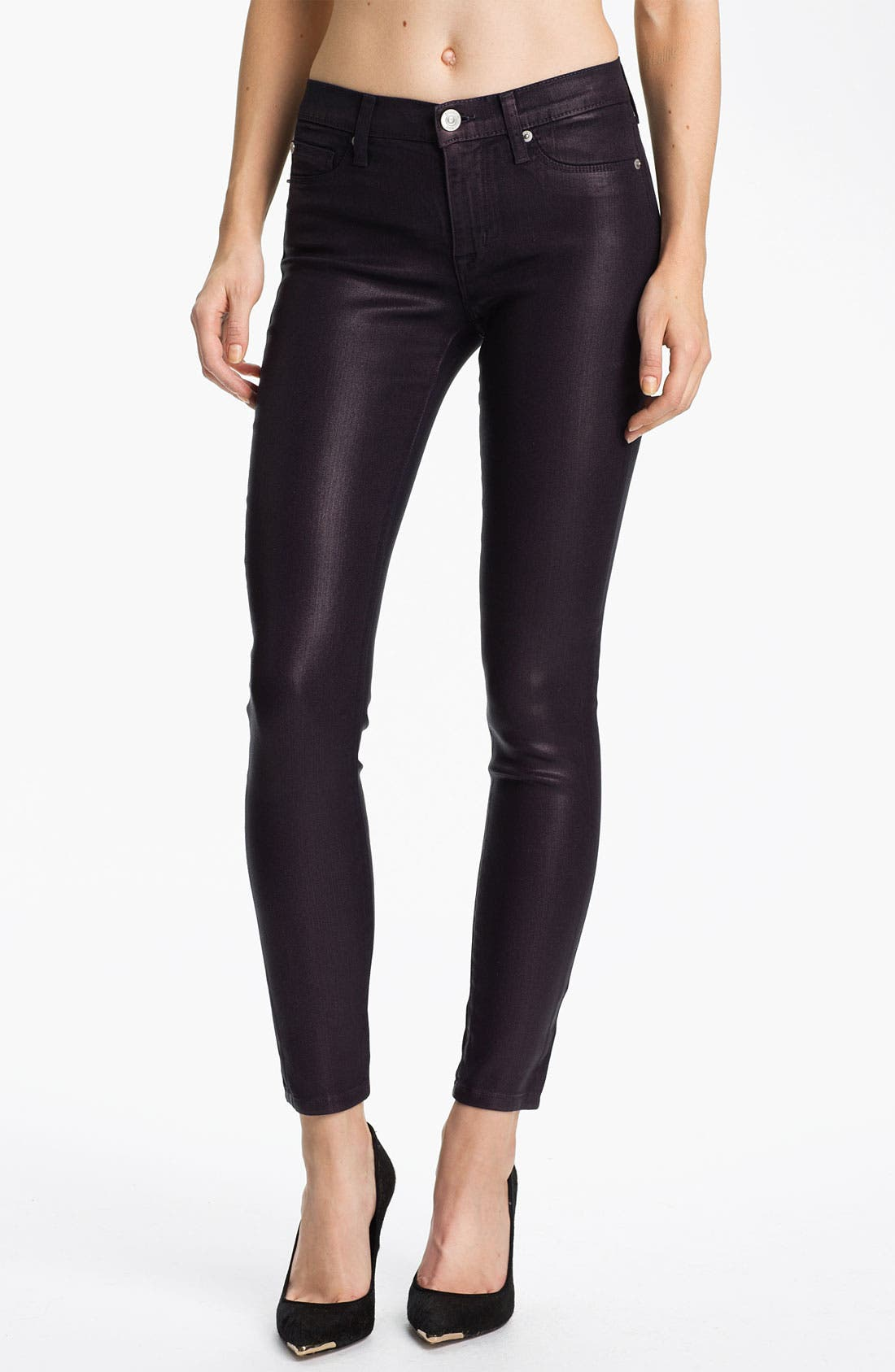 Alternate Image 1 Selected - Hudson Jeans 'Nico' Mid Rise Skinny Stretch Jeans (Gothic Lotita)
