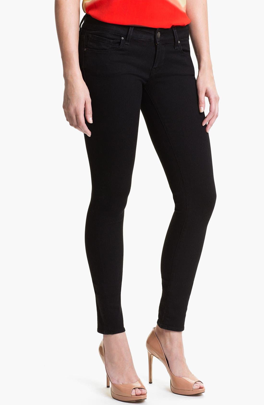 Alternate Image 1 Selected - Mavi Jeans 'Serena' Low Rise Super Skinny Jeans (Black Shanti) (Online Exclusive)
