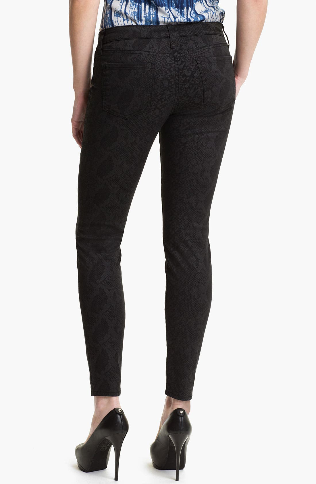 Alternate Image 2  - KUT from the Kloth 'Jennifer' Skinny Stretch Jeans (Snakeskin Print) (Online Exclusive)