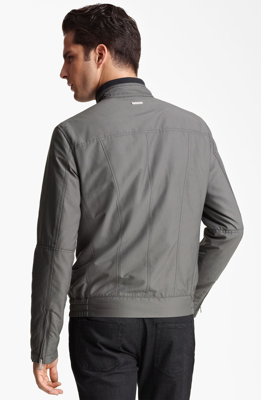Alternate Image 2  - Armani Collezioni Nylon Moto Jacket