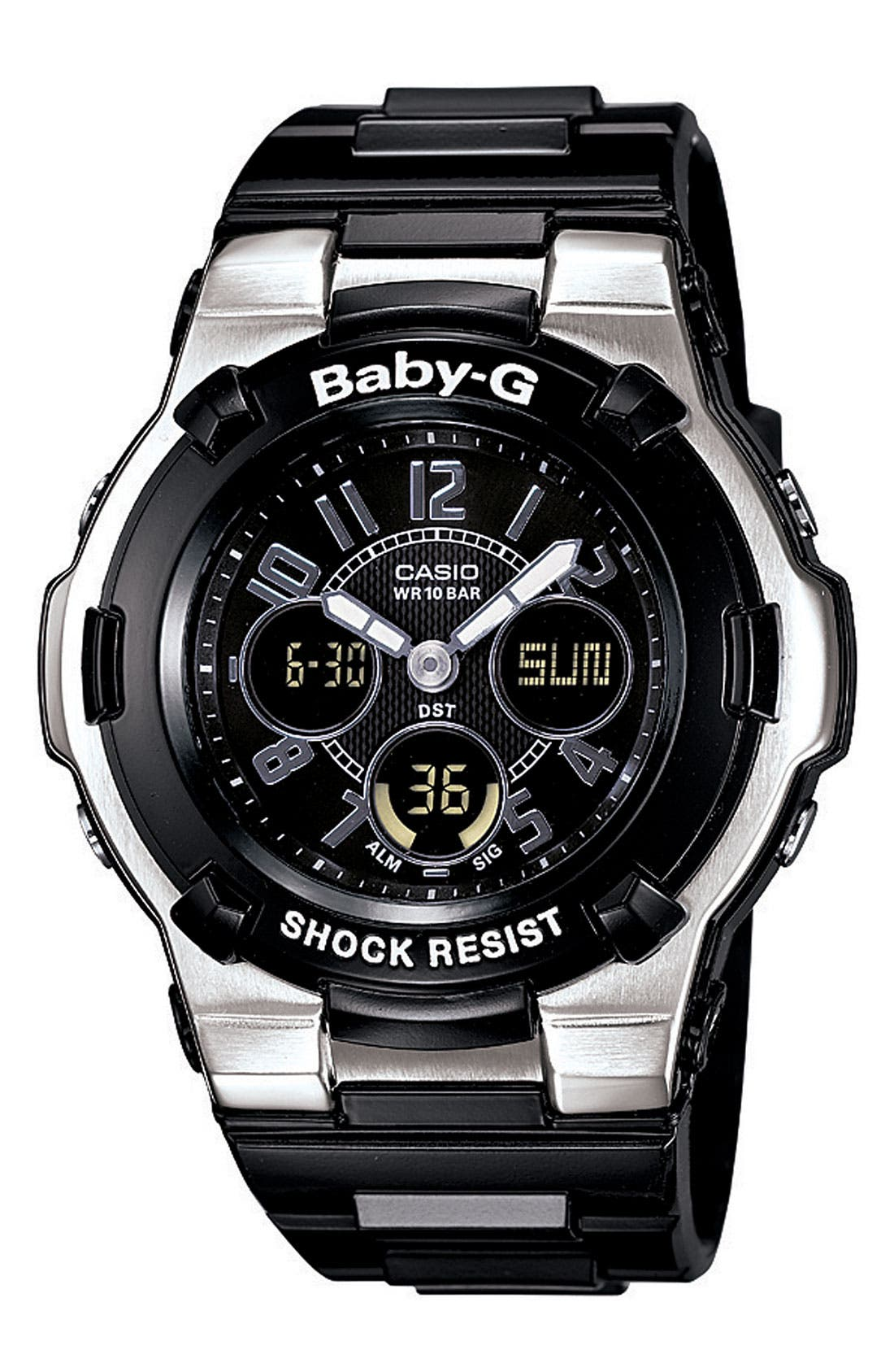 Alternate Image 1 Selected - Baby-G Dual Movement Watch, 44mm x 40mm