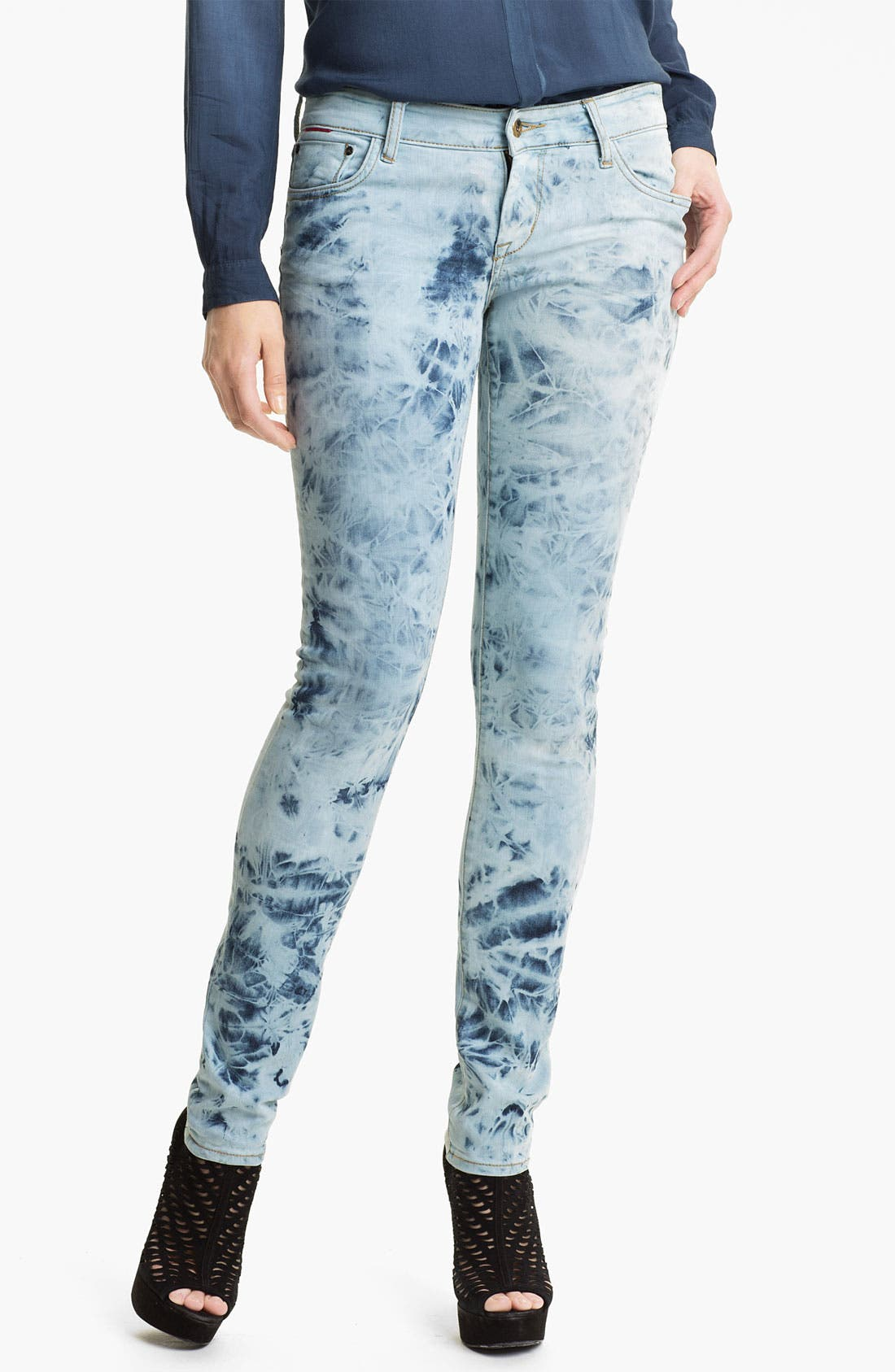 Main Image - !iT Collective Tie Dye Skinny Jeans (Activist) (Online Exclusive)