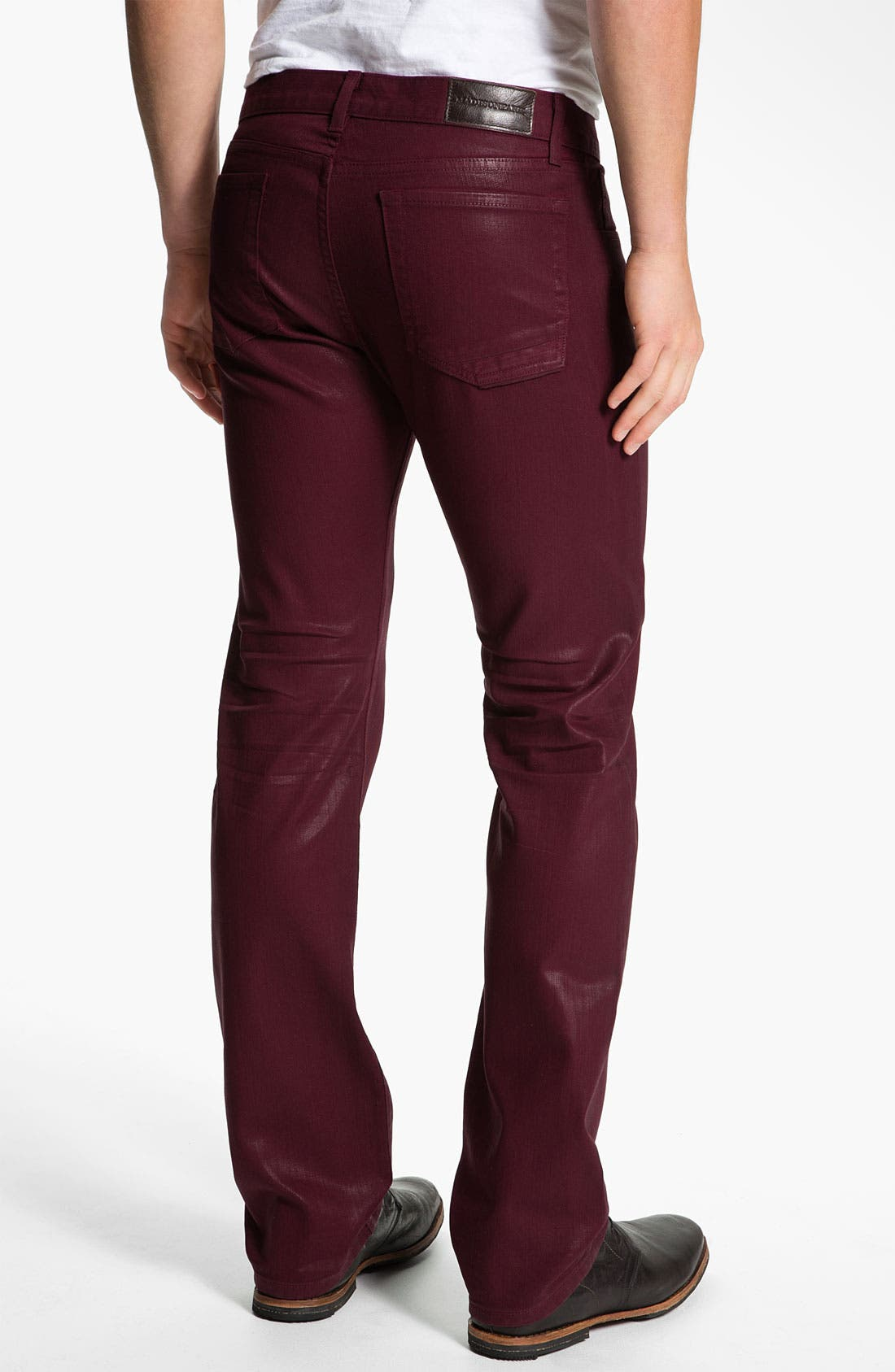 Main Image - Madisonpark Collective 'Miles' Slim Straight Leg Jeans (Merlot)